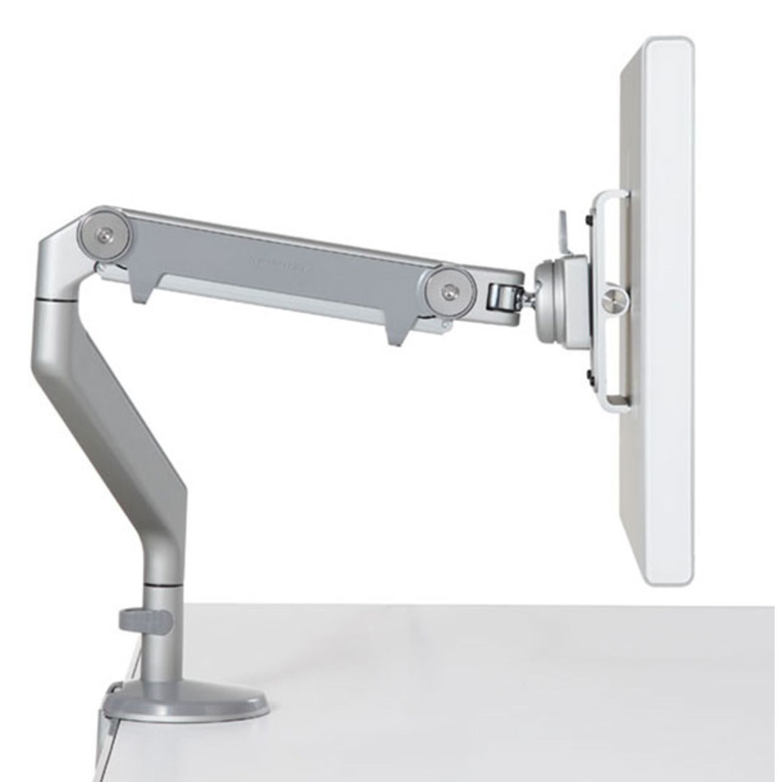 Human Scale M2 Monitor-Arm white/Chrome with VESA Adapter 75/100 Produktbillede