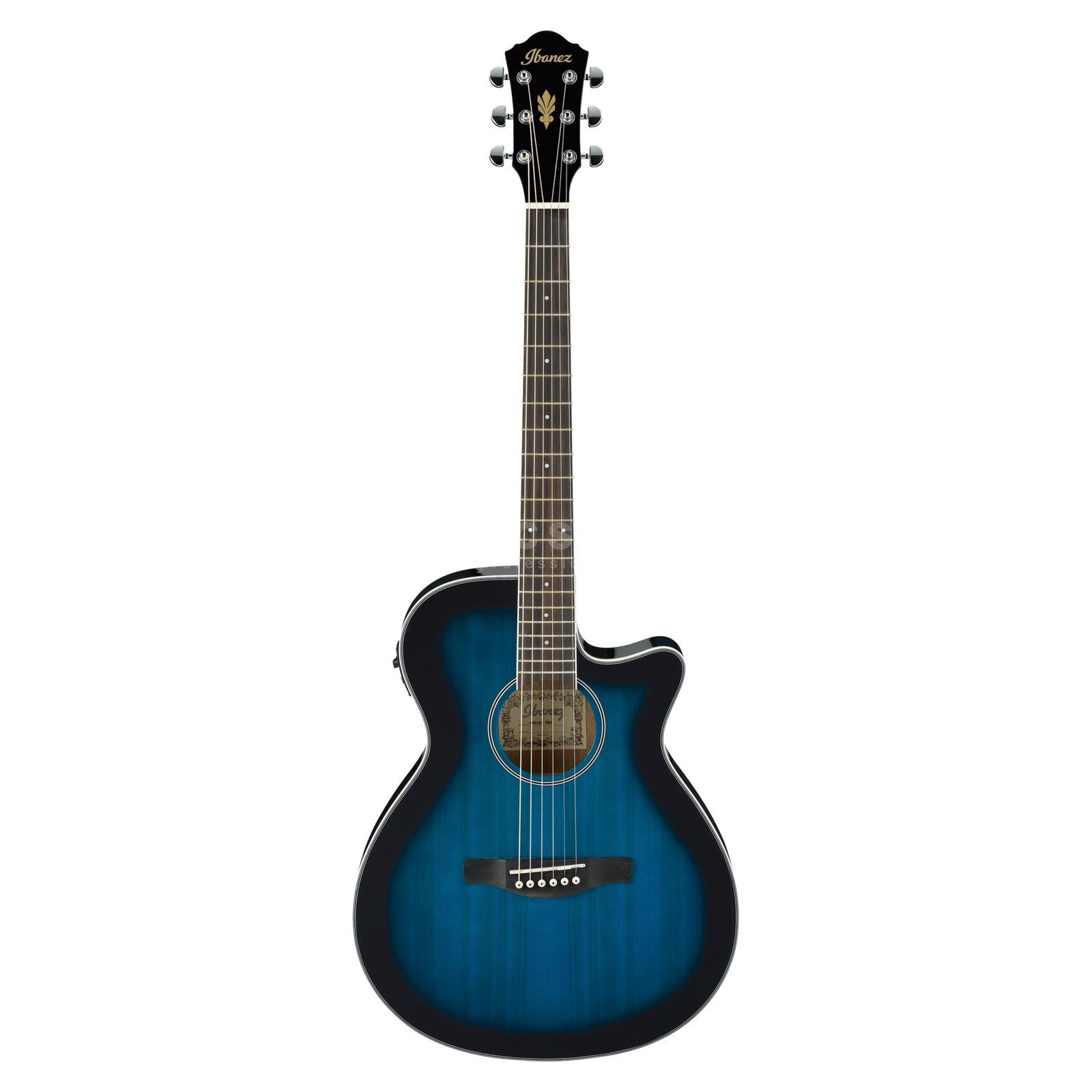 Ibanez AEG8E-TBS Transparent Blue Sunburst Product Image