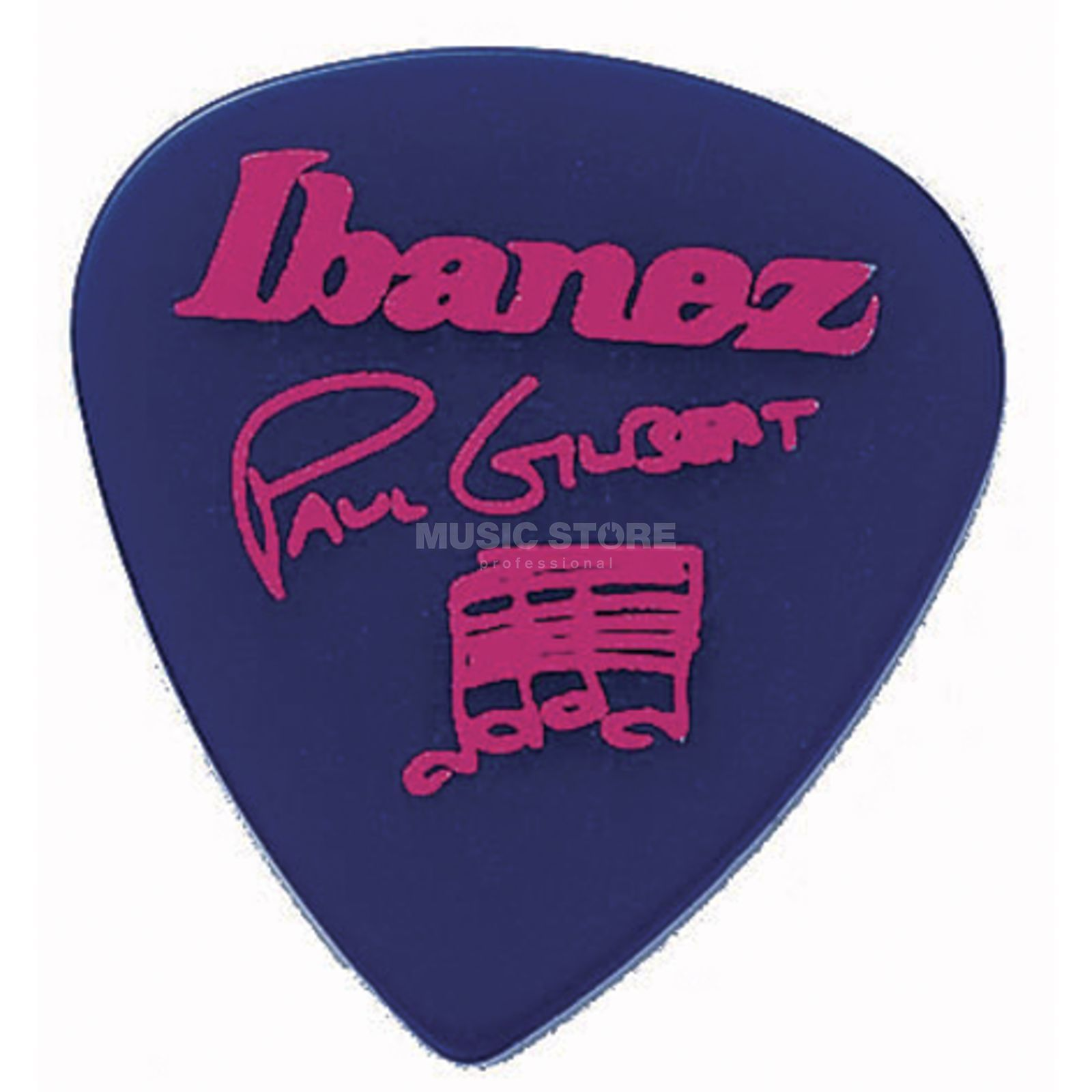 Ibanez Guitar Pick B1000PG-JB, 6-pack Paul Gilbert,signature, blue Produktbillede