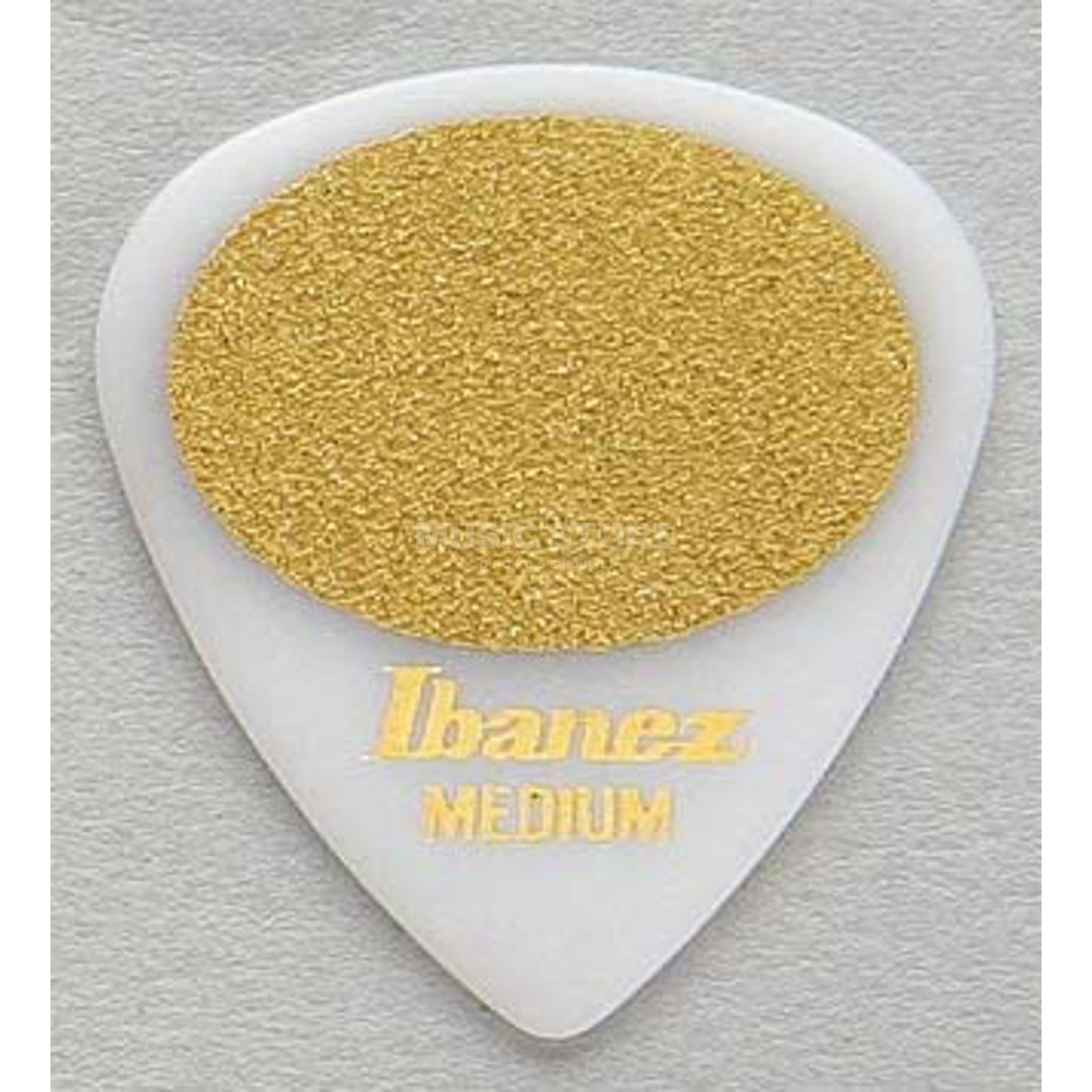 Ibanez Guitar Pick BPA16MS-WH, 6-pack medium sand,Grip Wizard,white Produktbillede