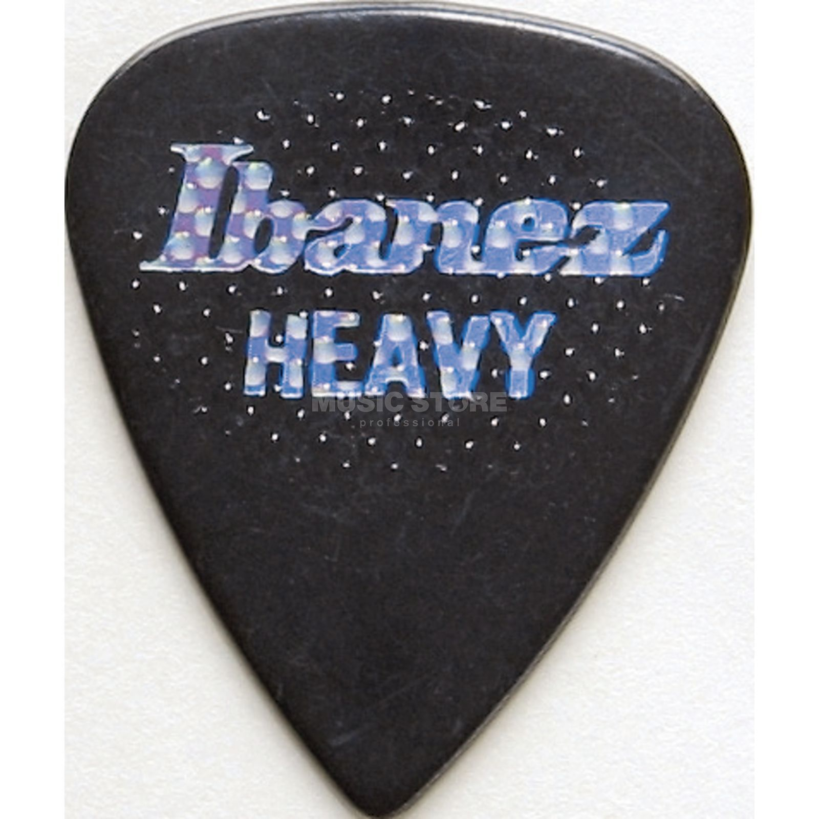 Ibanez Guitar Pick BPS17HR-BK, 6-pack heavy rubber,Grip Wizard,black Produktbillede
