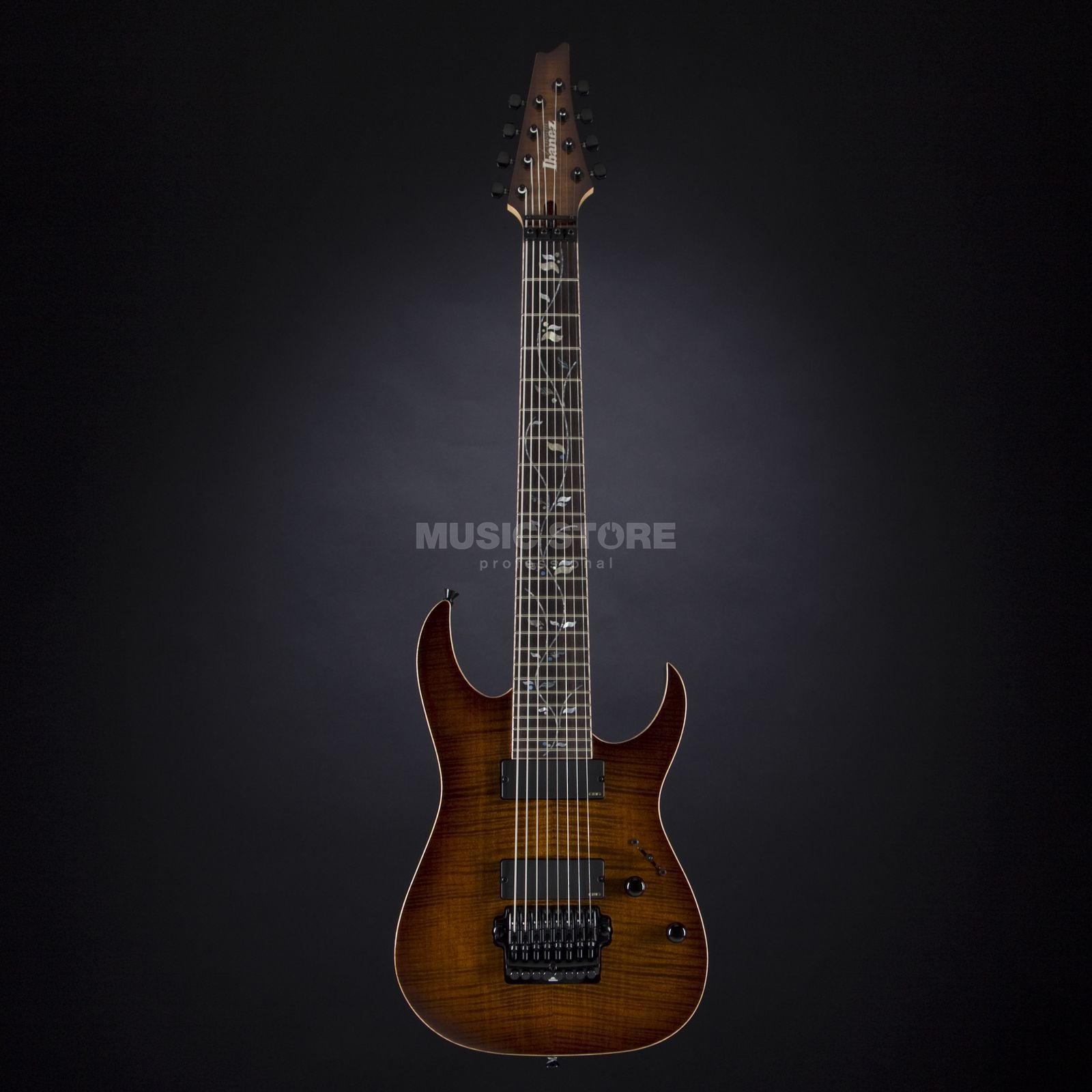 Ibanez J. Custom JCRG20138-BGA 8-String Brown Garnet Shadow #F1330075 Produktbild