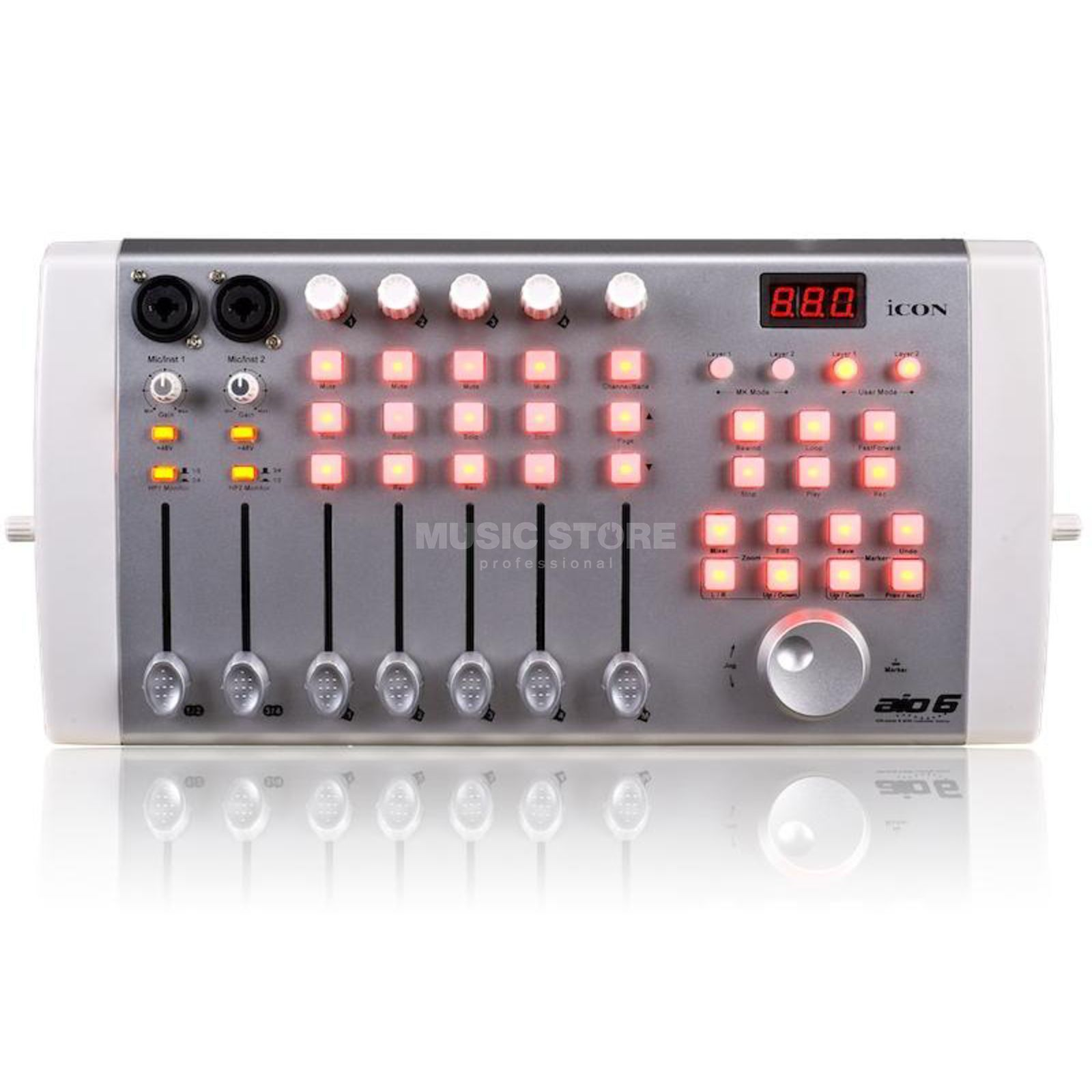 iCON AIO 6 USB Audio Interface and  DAW Controller   Produktbillede