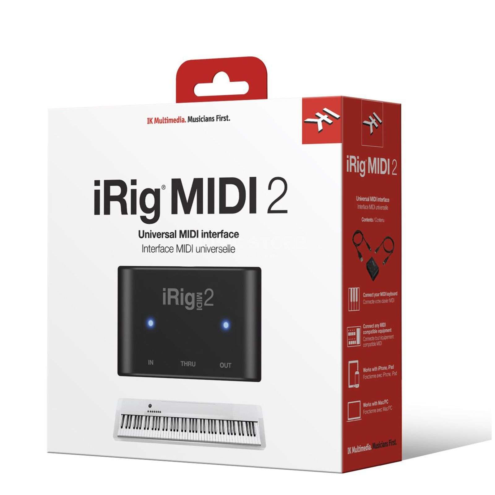 IK Multimedia iRig MIDI 2 MIDI Interface f iOS + Mac /PC Produktbillede