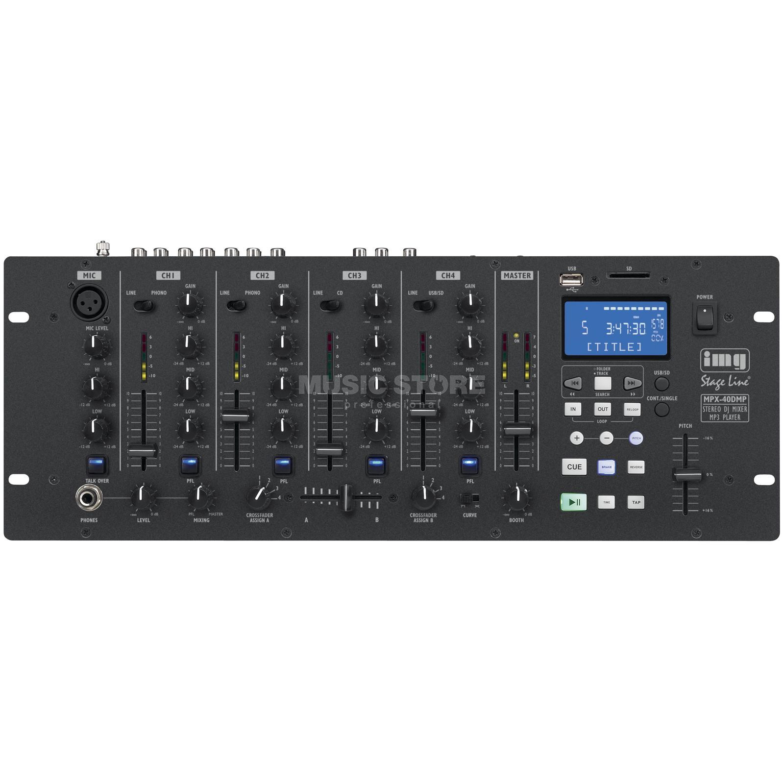 IMG STAGELINE MPX-40DMP DJ-Mixer mit MP3-Player Product Image