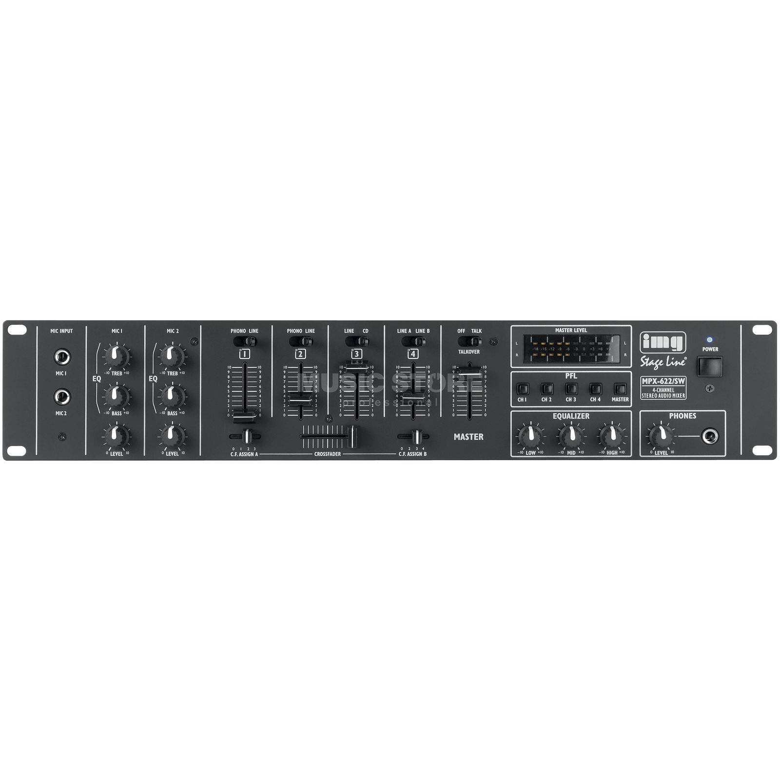 IMG STAGELINE MPX-622 Stereo-DJ Mixer Produktbillede