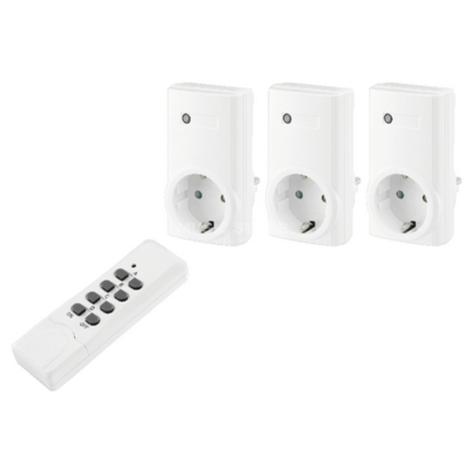 IMG STAGELINE RCS-1000N Remote switch power outlet set Produktbillede