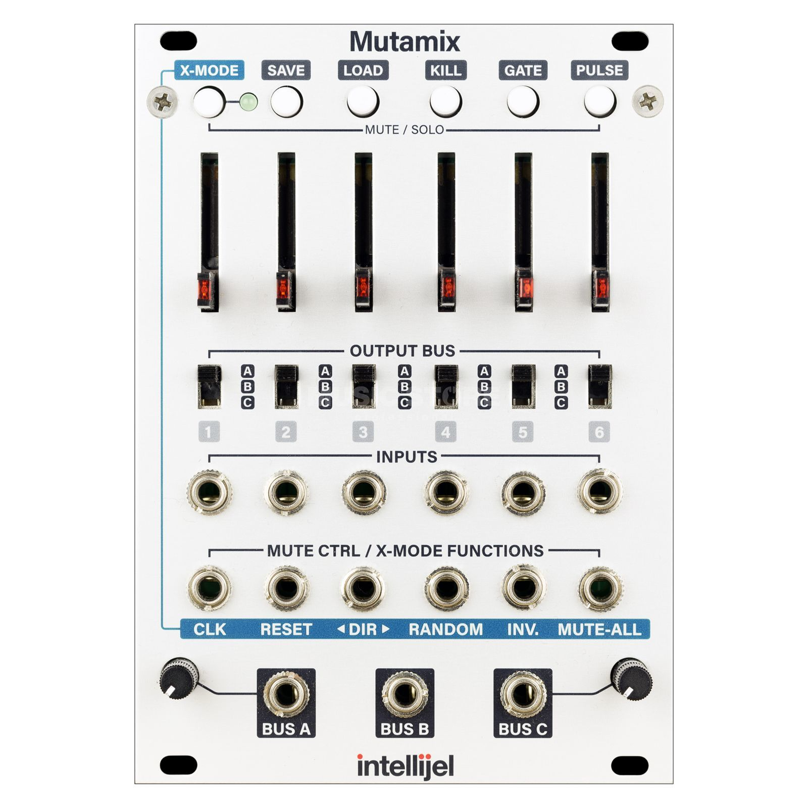 Intellijel Mutamix 6 Channel CV/Audio Mixer Produktbild