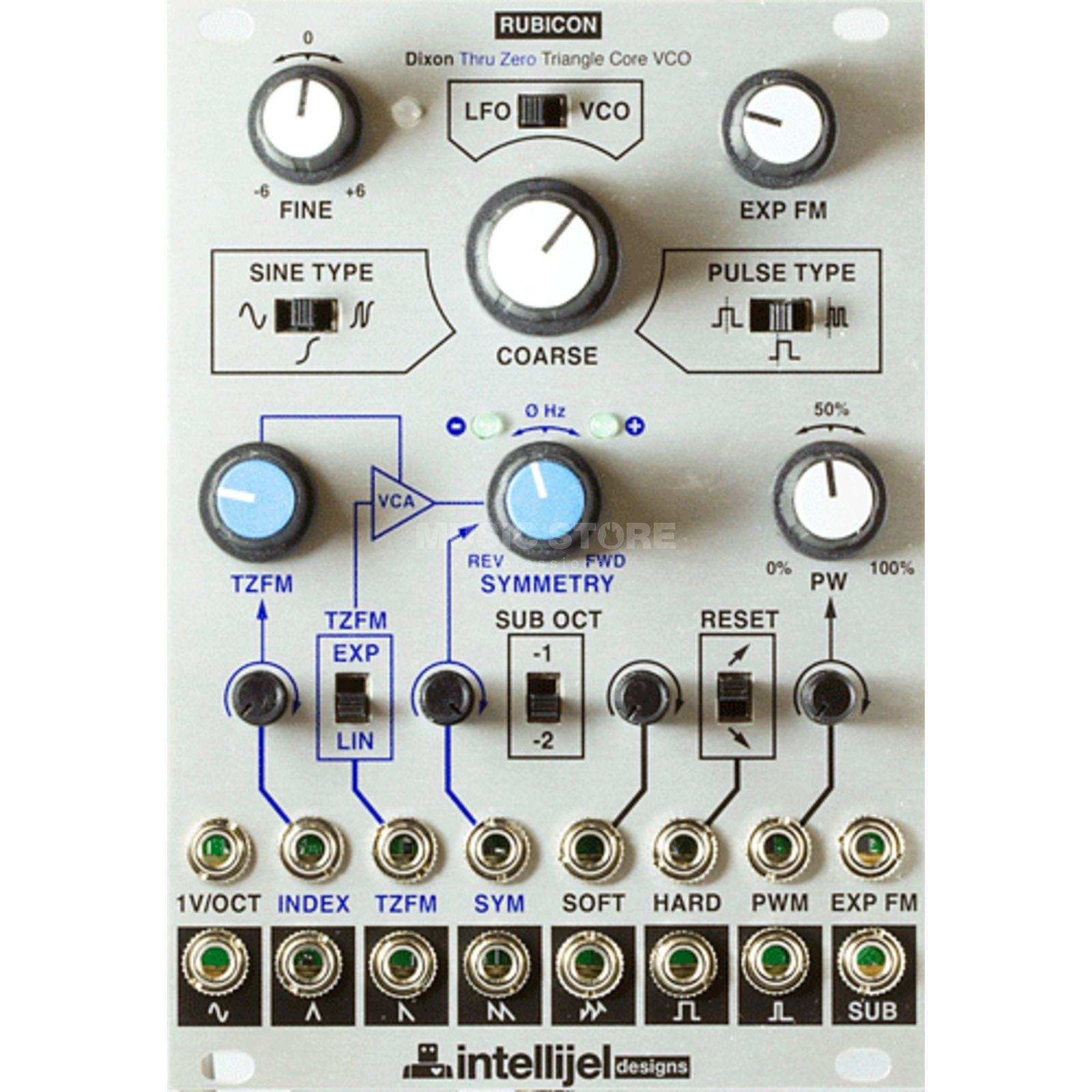 Intellijel Rubicon Thru Zero FM Triangle core VCO Produktbild