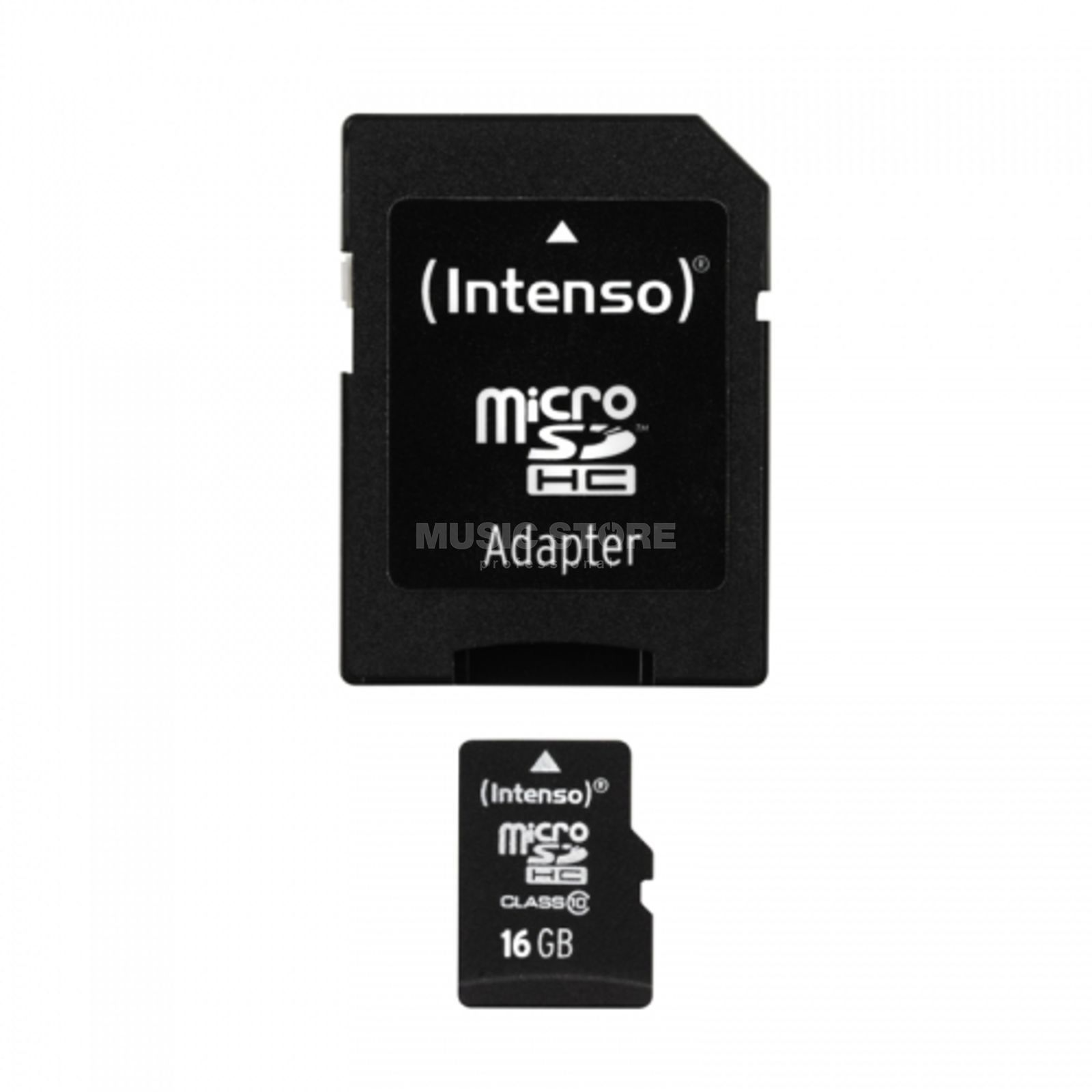 Intenso 16GB Micro SDHC Card CL10 mit Adapter/ für Card Recorder Produktbild
