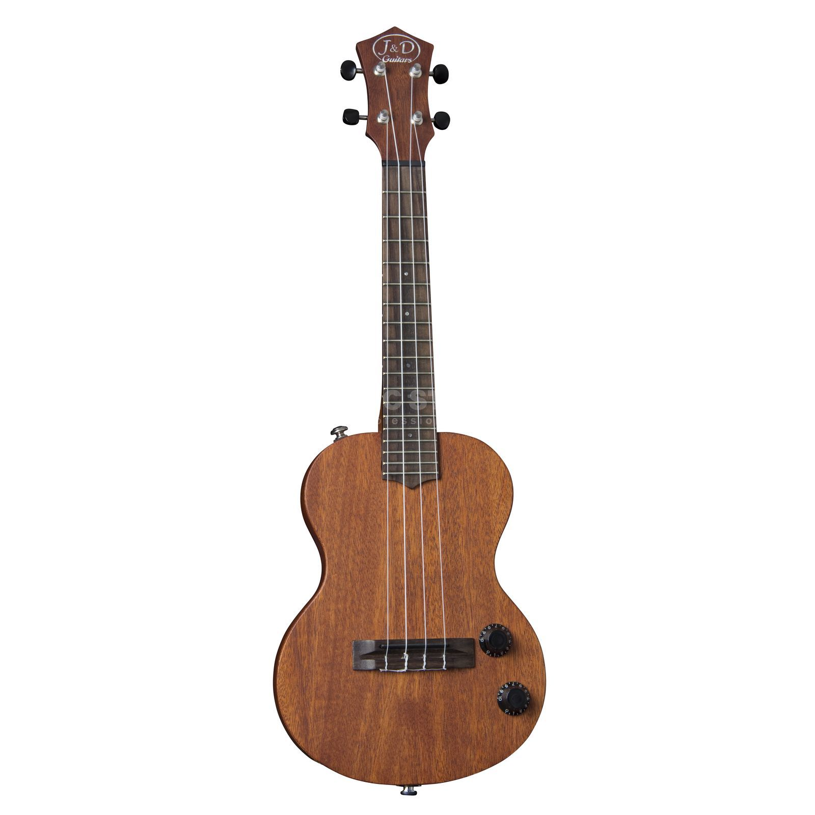 Jack & Danny Electric Solid Body Ukulele Mahogany, Natural Product Image