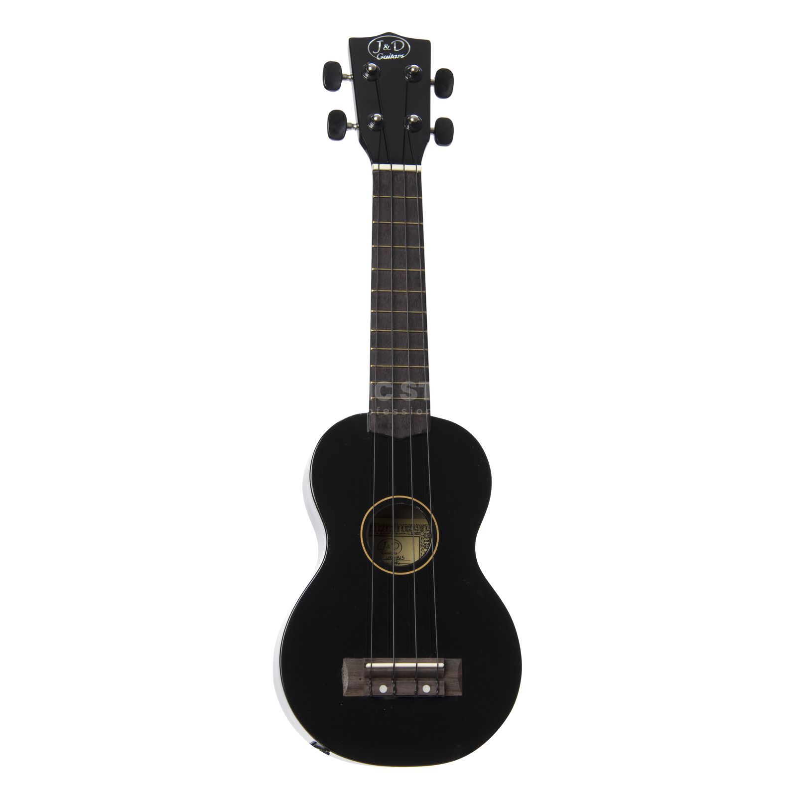 Jack & Danny UK-B1S BK Ukulele, Black, incl. Bag Product Image