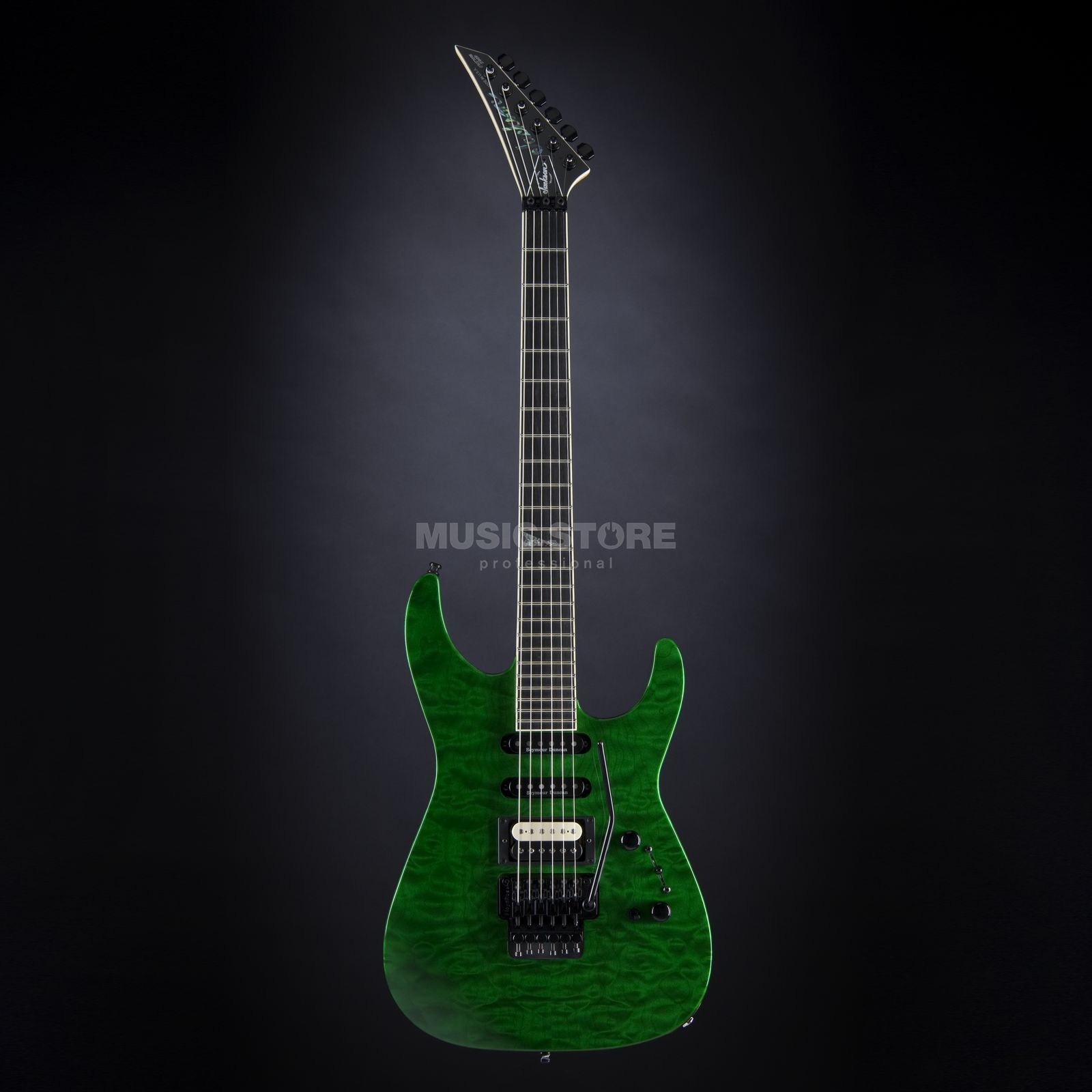 Jackson MS Custom Select DK1 Dinky HSS EB Emerald Green Transparent #8626 Produktbild