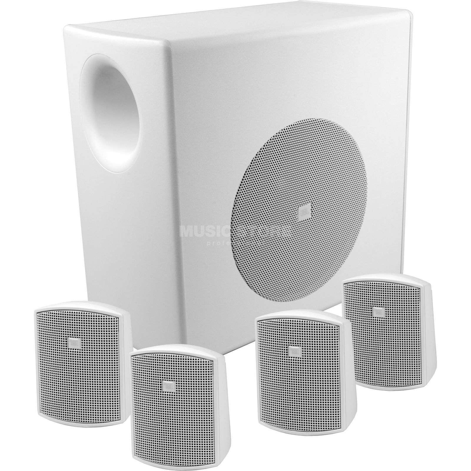 JBL Control 50 systeem wit 1xControl 50S/T, 4xControl 52 Productafbeelding