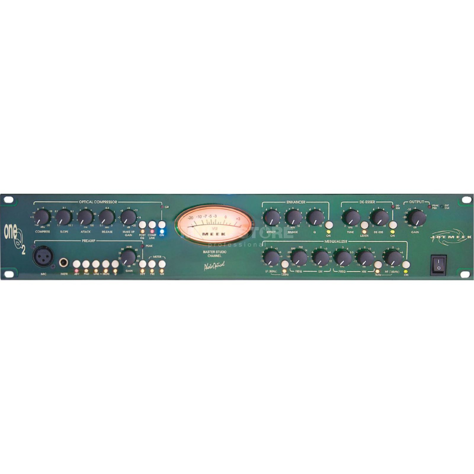 Joemeek oneQ2 Channel Strip opt/Coax - out, WC in/out Produktbillede