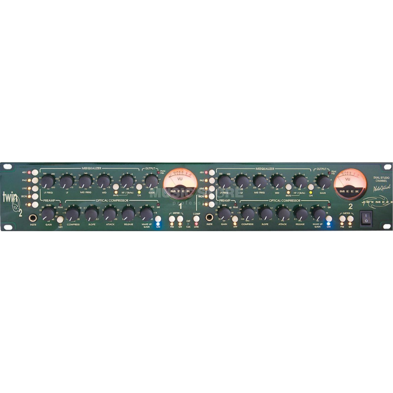 Joemeek twinQ2 Dual Mono Channel Strip opt/Coax - Out, WC in Produktbillede