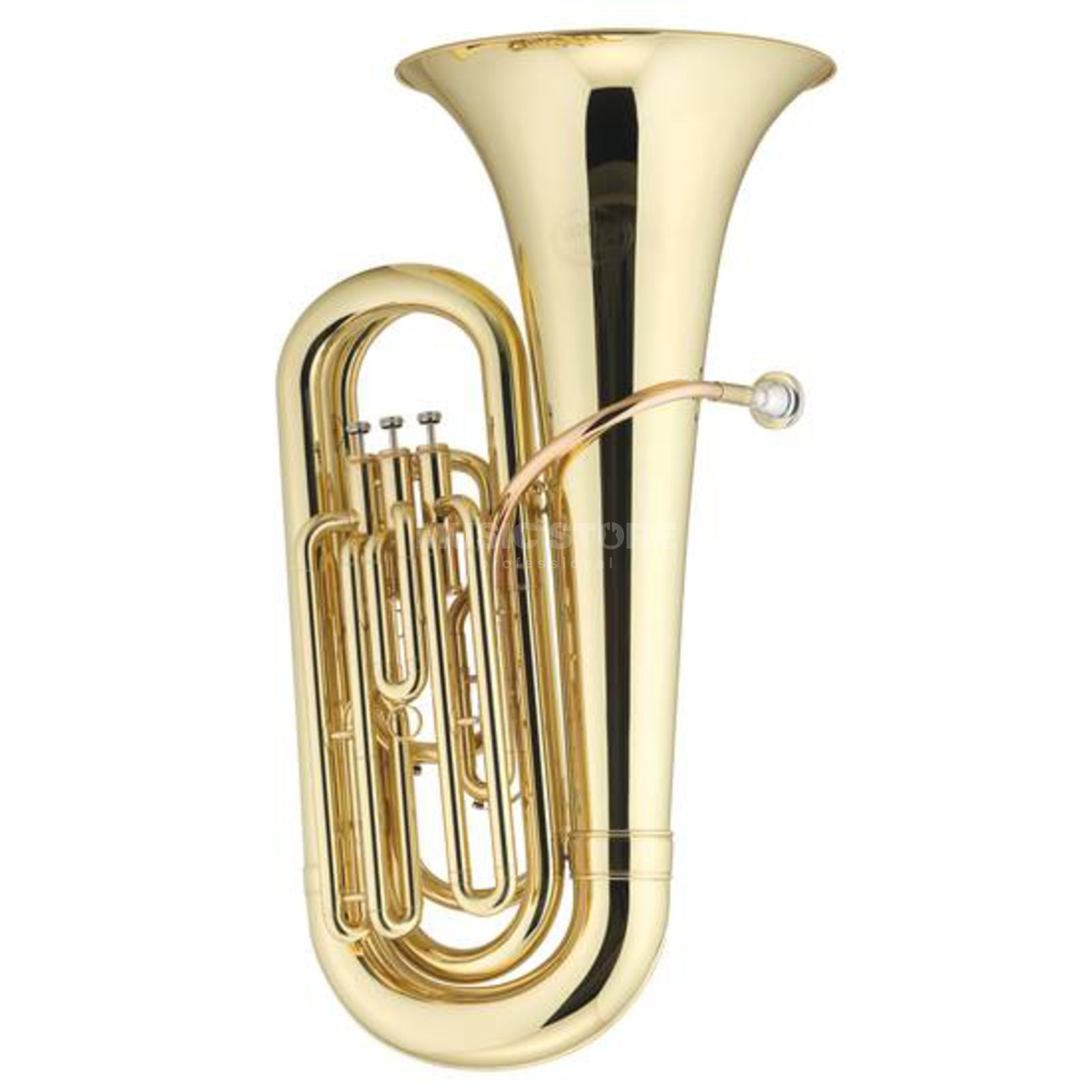 Jupiter JP-378 L 3/4 Tuba in Bb goudmessing Menbuis Productafbeelding