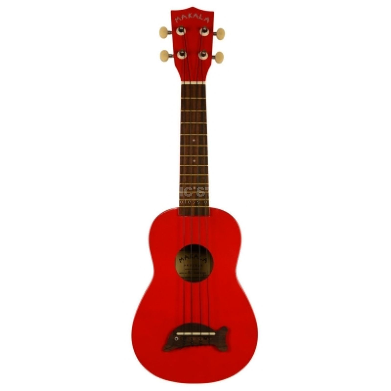 Kala Makala Soprano Ukulele CAR Candy Apple Red incl. Bag Produktbillede