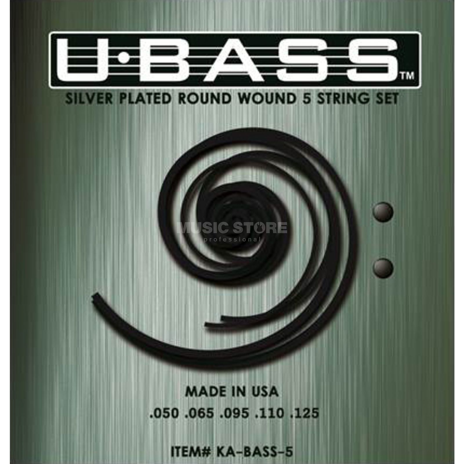 Kala U-Bass Silver Plated 5-String Round Wound Product Image