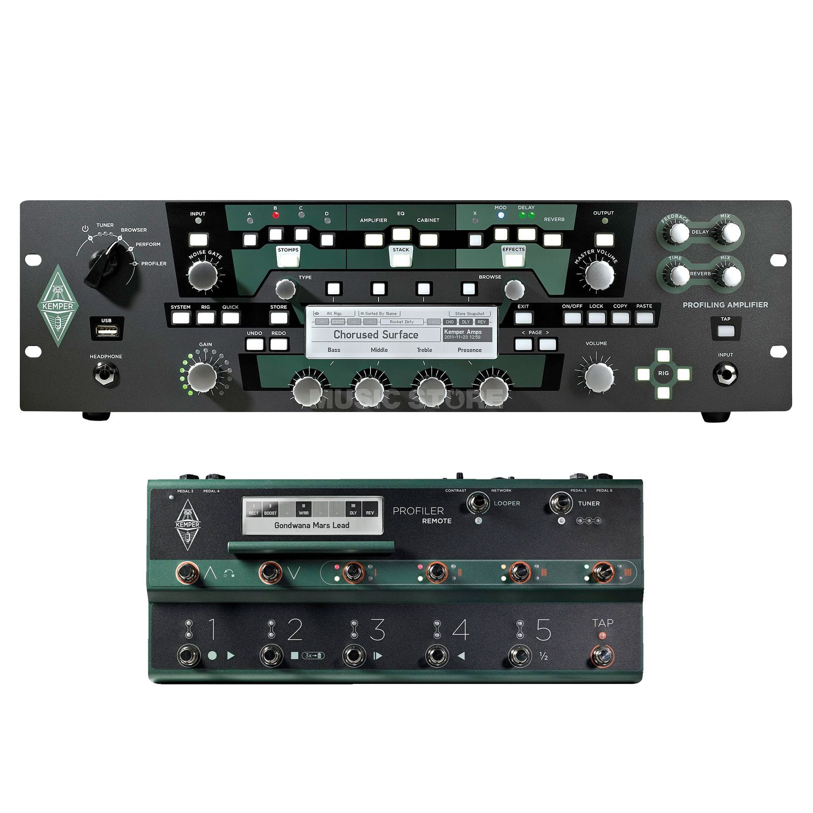 Kemper Profiler PowerRack + Remote Produktbild