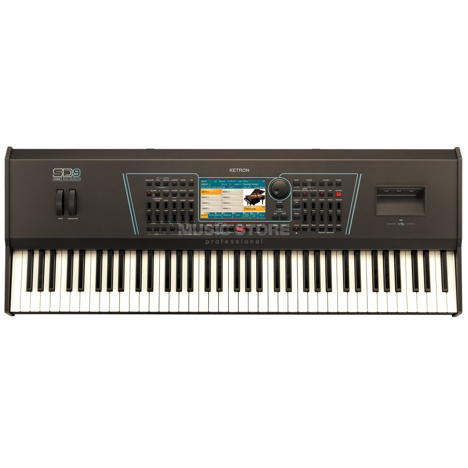 Ketron SD9 Entertainer Keyboard Produktbild