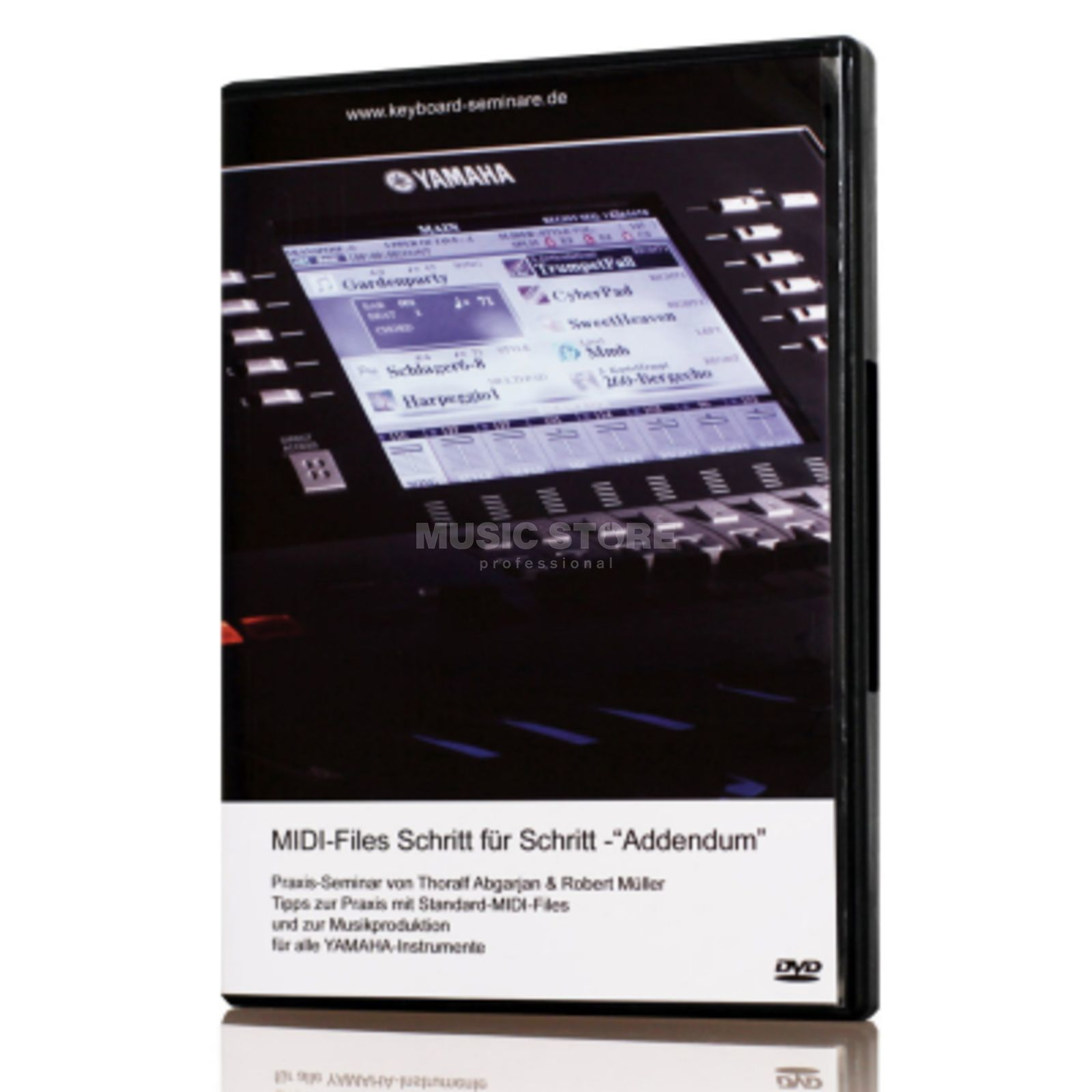 Keyboard-Seminare MIDI-files step by step Video DVD (German) Produktbillede