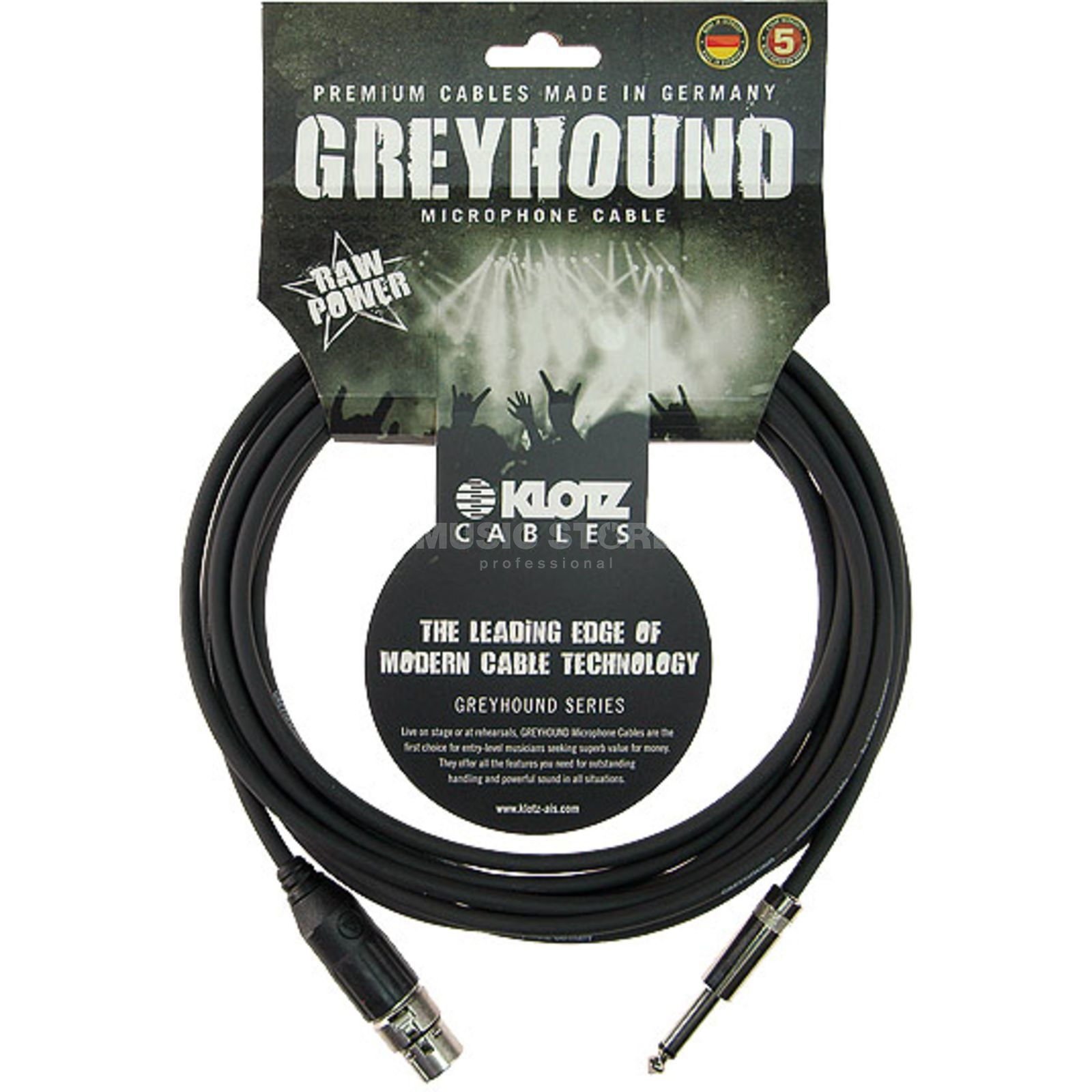 Klotz GRSXP050 Greyhound Mikrofonkabel XLR female - Klinke 5m Switchcraft Produktbild