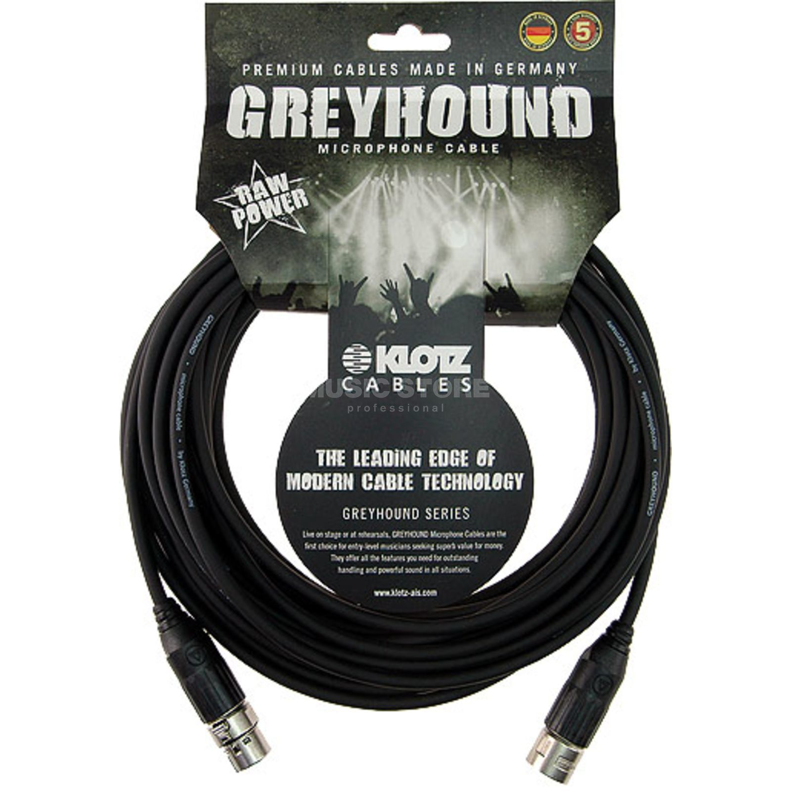 Klotz Microphone Cable Greyhound 3m XLR Switchcraft, GRSXX030 Produktbillede