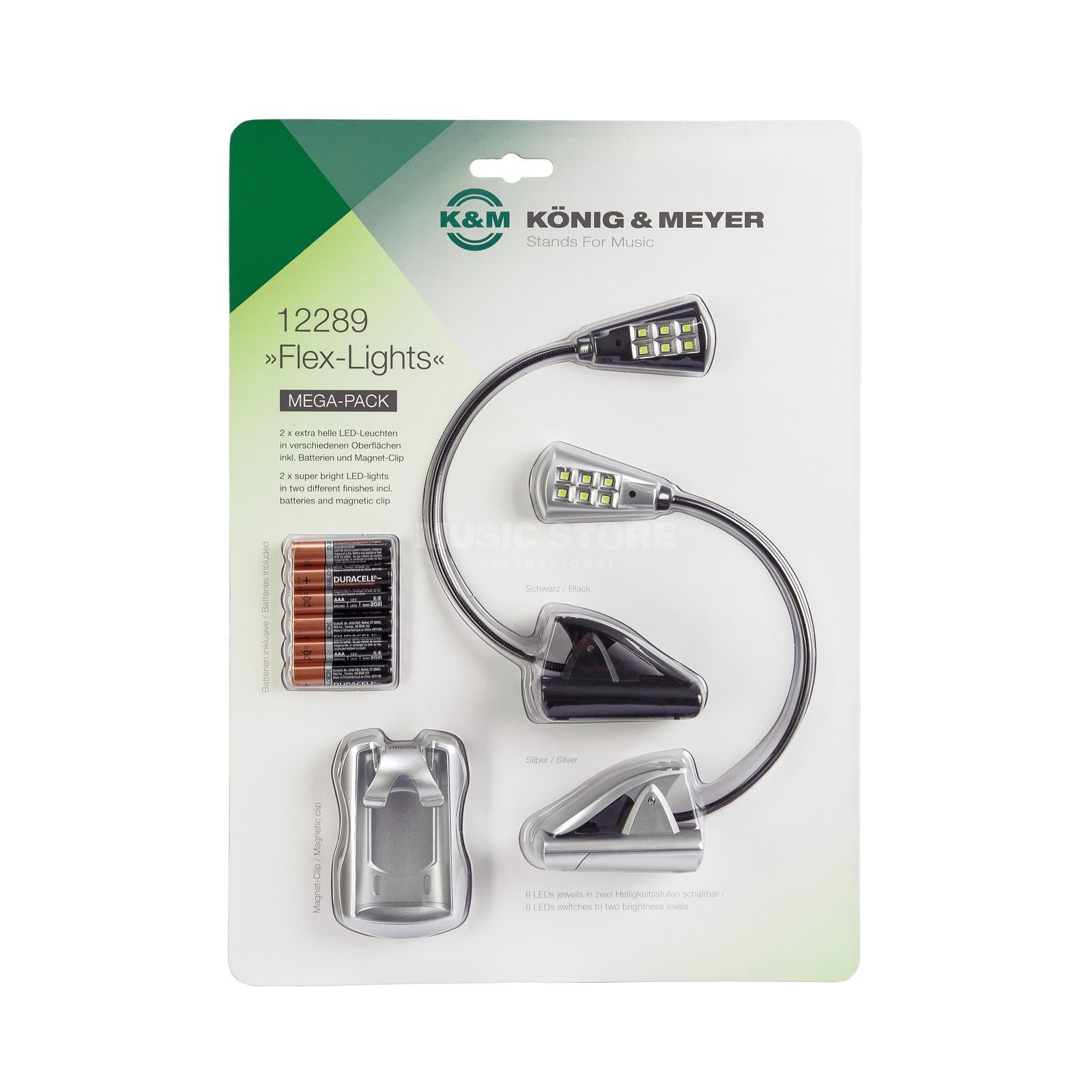 König & Meyer 12289 Notenpultleuchten Flex Lights Mega-Pack Produktbild