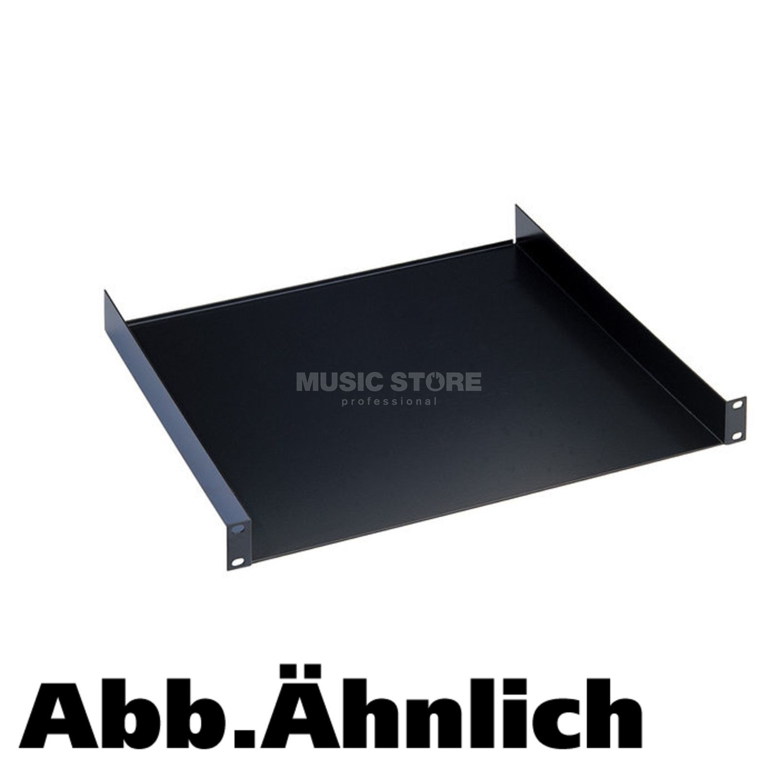 "König & Meyer 28482 19"" Rack-Shelf 2HE Depth 300mm, Black Produktbillede"