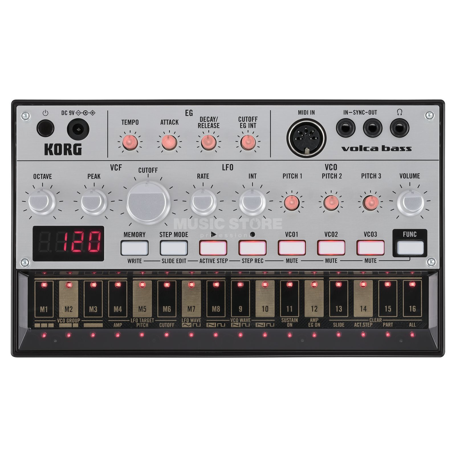 Korg Volca Bass Analog Synthesizer Produktbillede