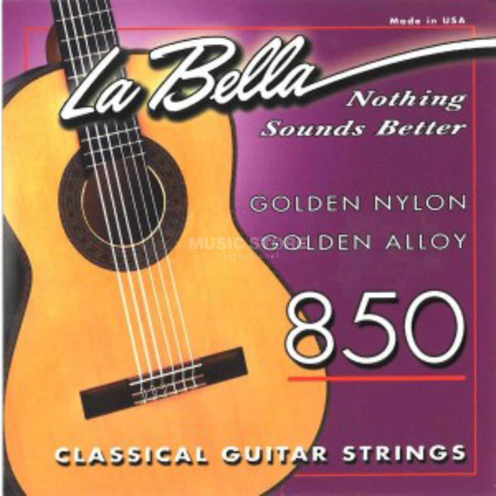 La Bella 850 Nylon Strings Golden Alloy Product Image
