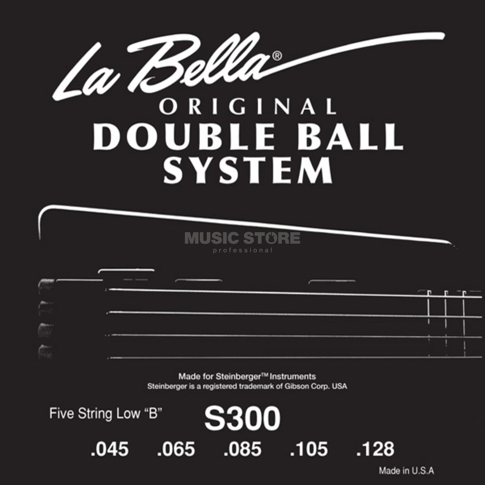La Bella bas snaren 45-128 Double Ball Steenberger Headless 5saitig Productafbeelding