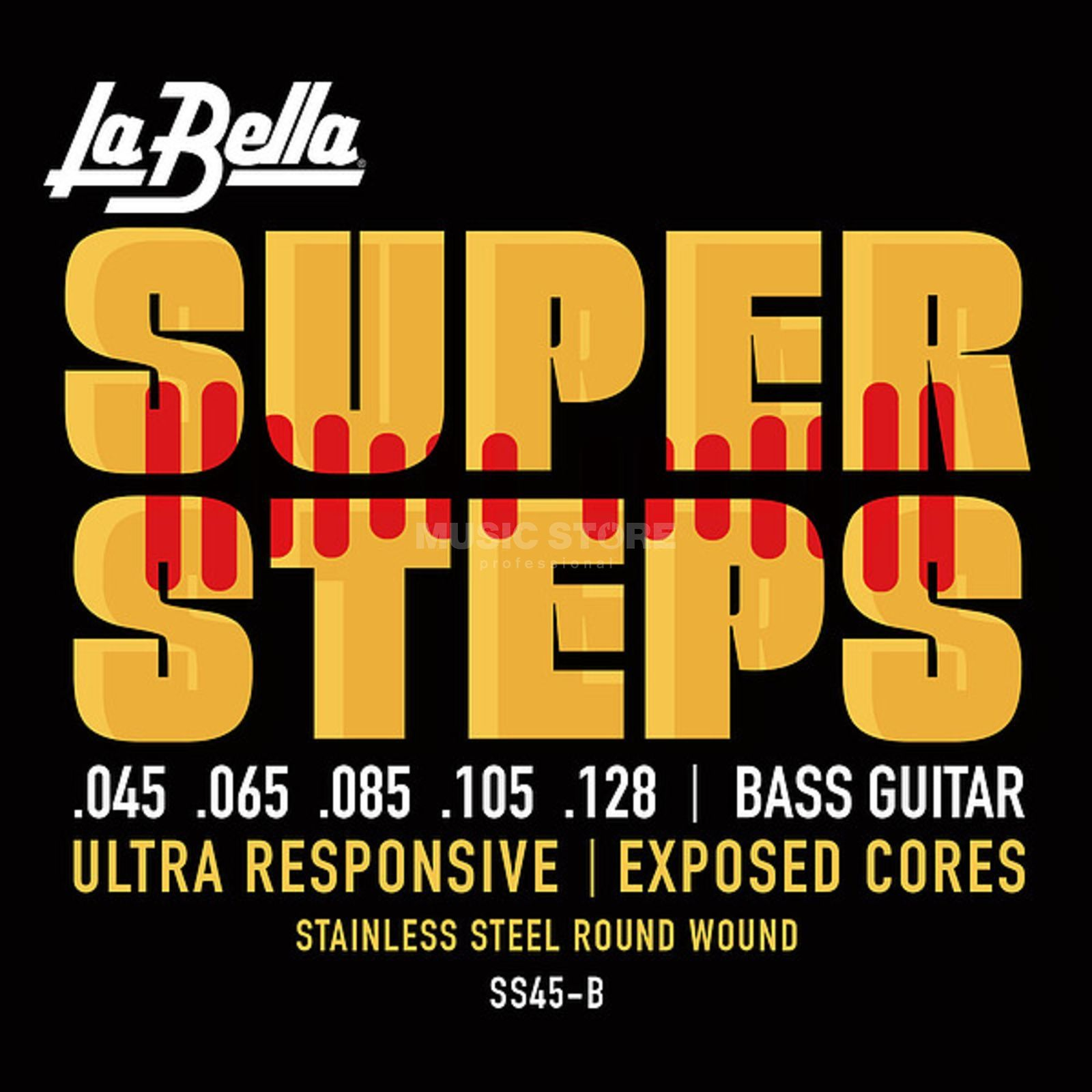 La Bella Bass Strings, 45-128 Super Steps, Tappered Produktbillede