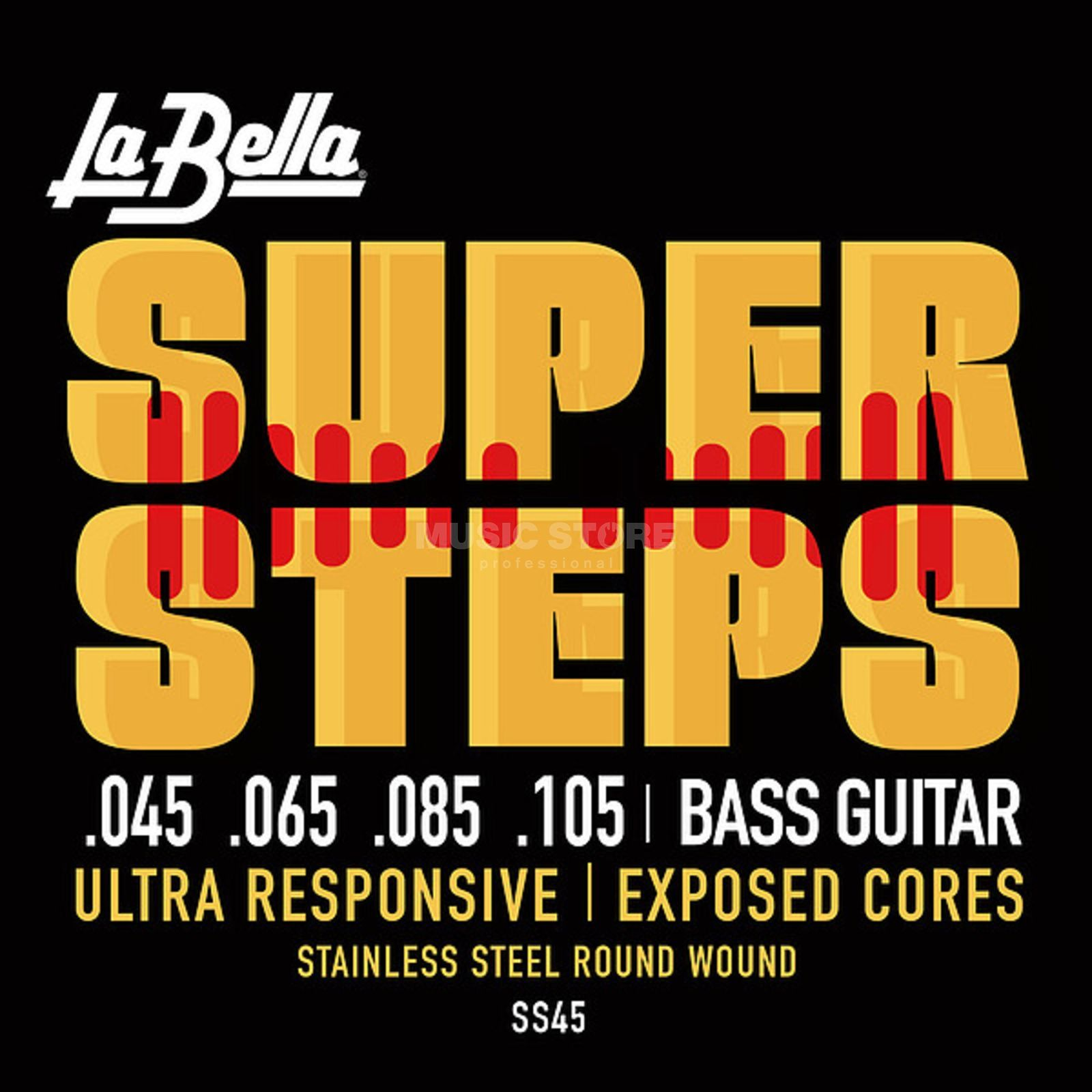 La Bella Bass Strings, 4er,45-105 Super Steps, Tappered Produktbillede