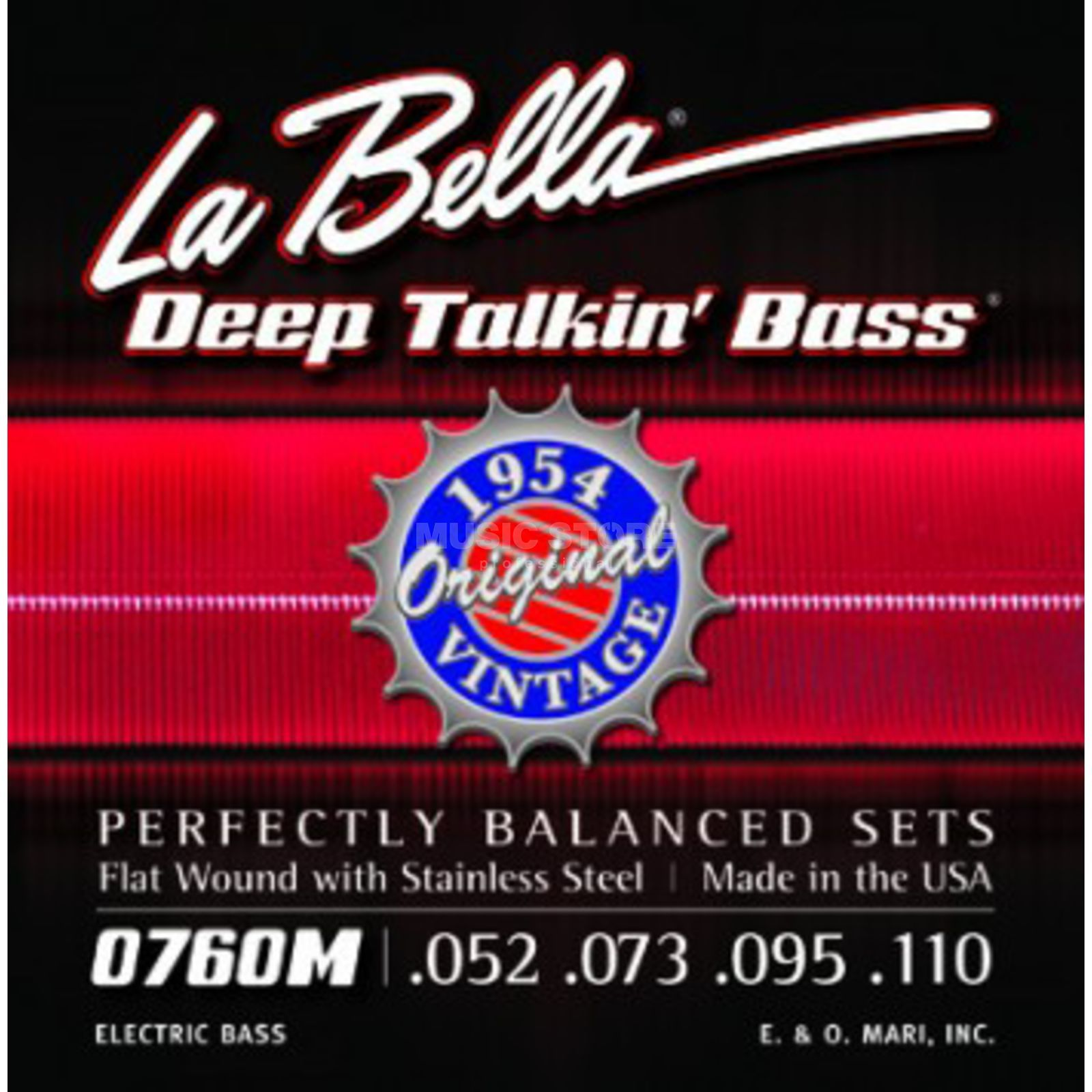La Bella Bass Strings Set of 4: 52-110,760M James Jamerson,Flatwound Immagine prodotto