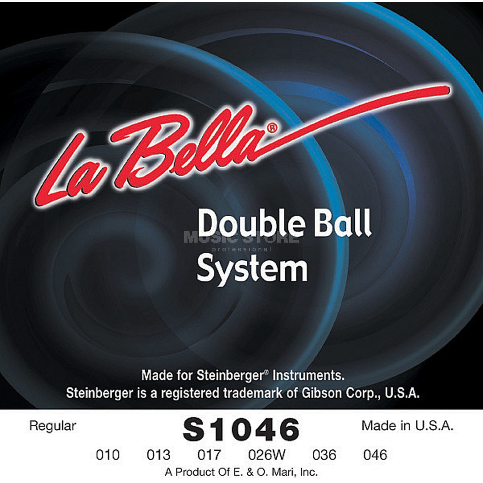 La Bella E-Guit. Strings, 10-46, Double Ball, S 1046 R Produktbillede