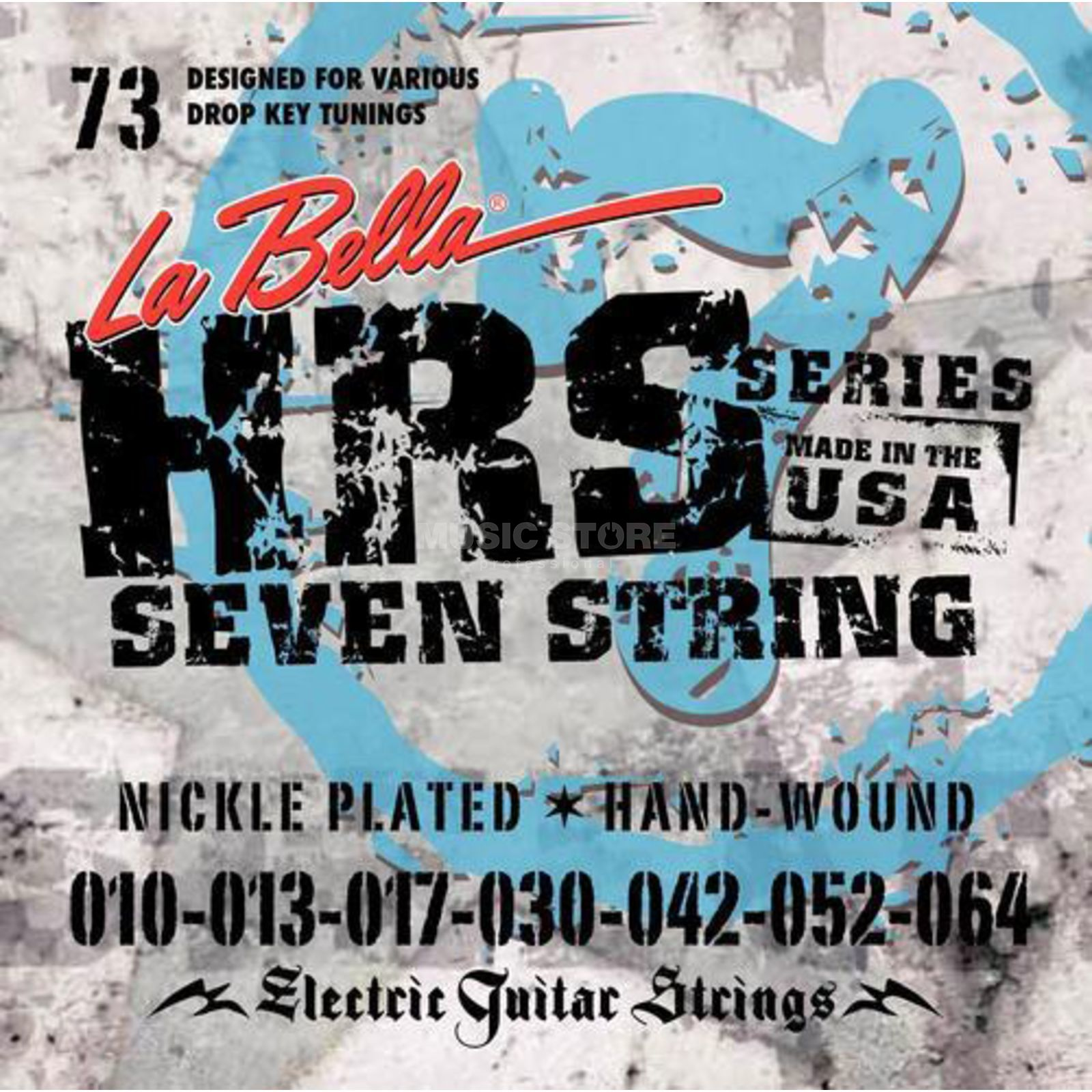La Bella HRS-73 E-Guitar Strings 010-064 7-string, Nickel Produktbillede