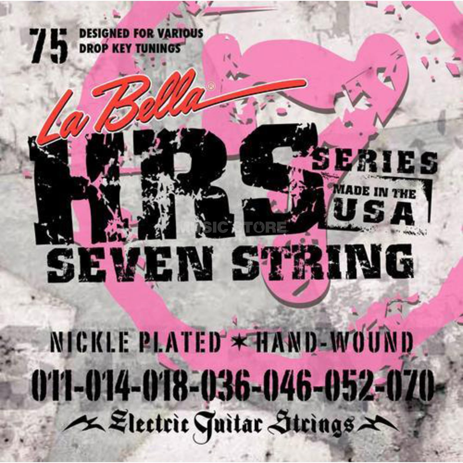 La Bella HRS-75 E-Guitar Strings 011-070 7-string, Nickel Produktbillede