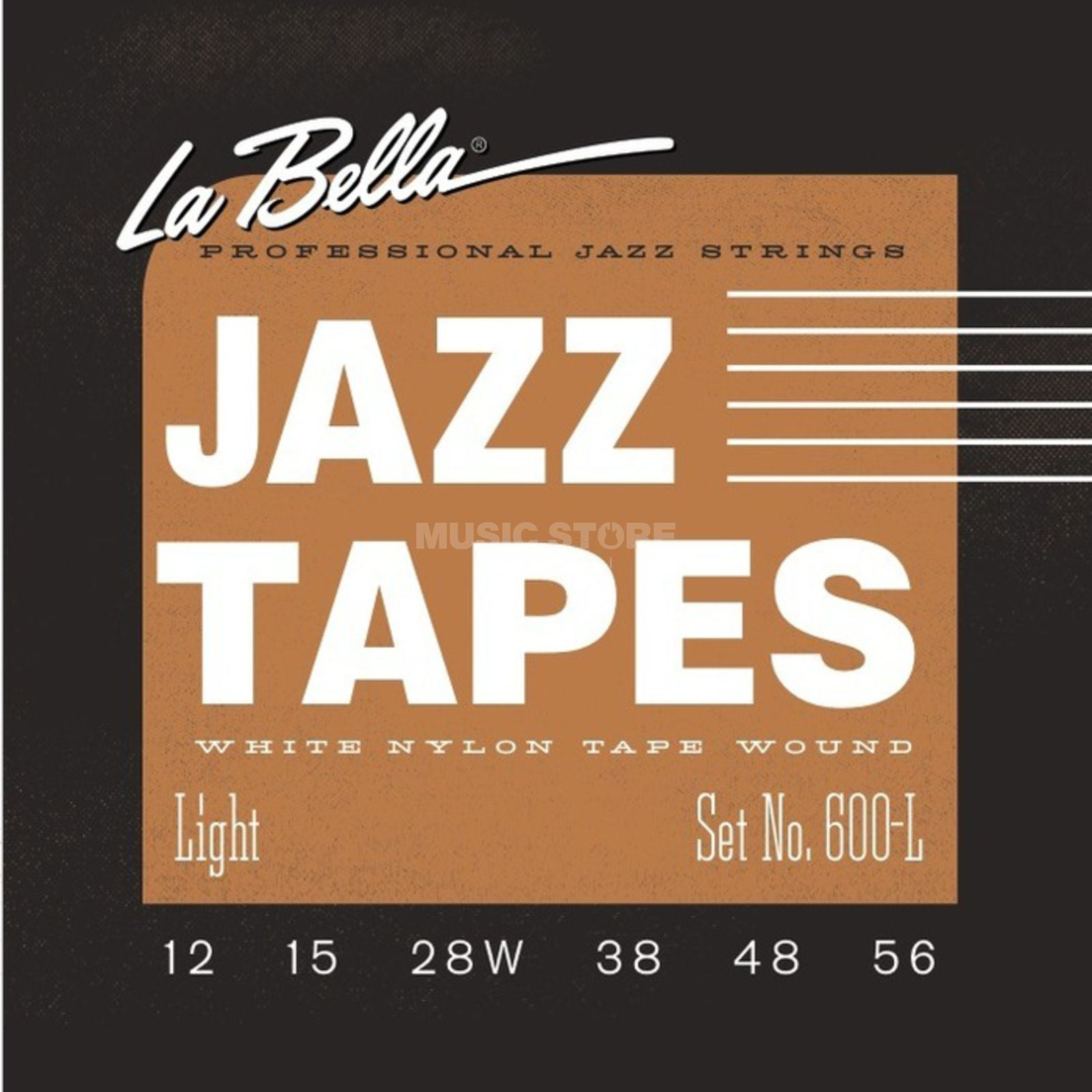 La Bella White Nylon Saiten 600-L 12-56 Jazz Tapes Produktbillede