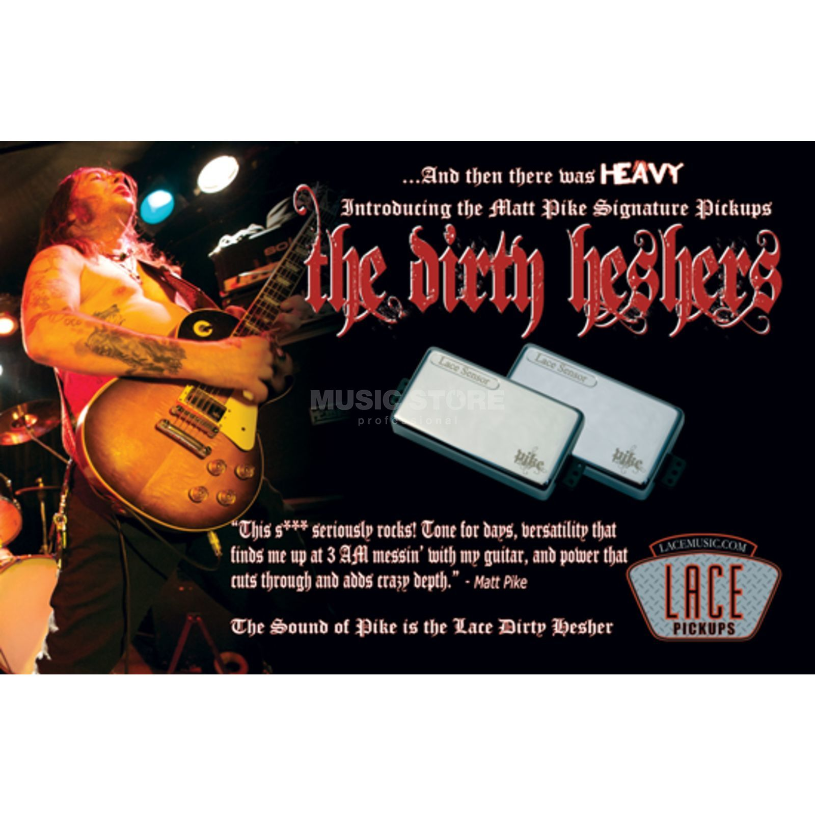 Lace Pickups Matt Pike's Humbucker Set Dirty Heshers / Chrome Produktbild