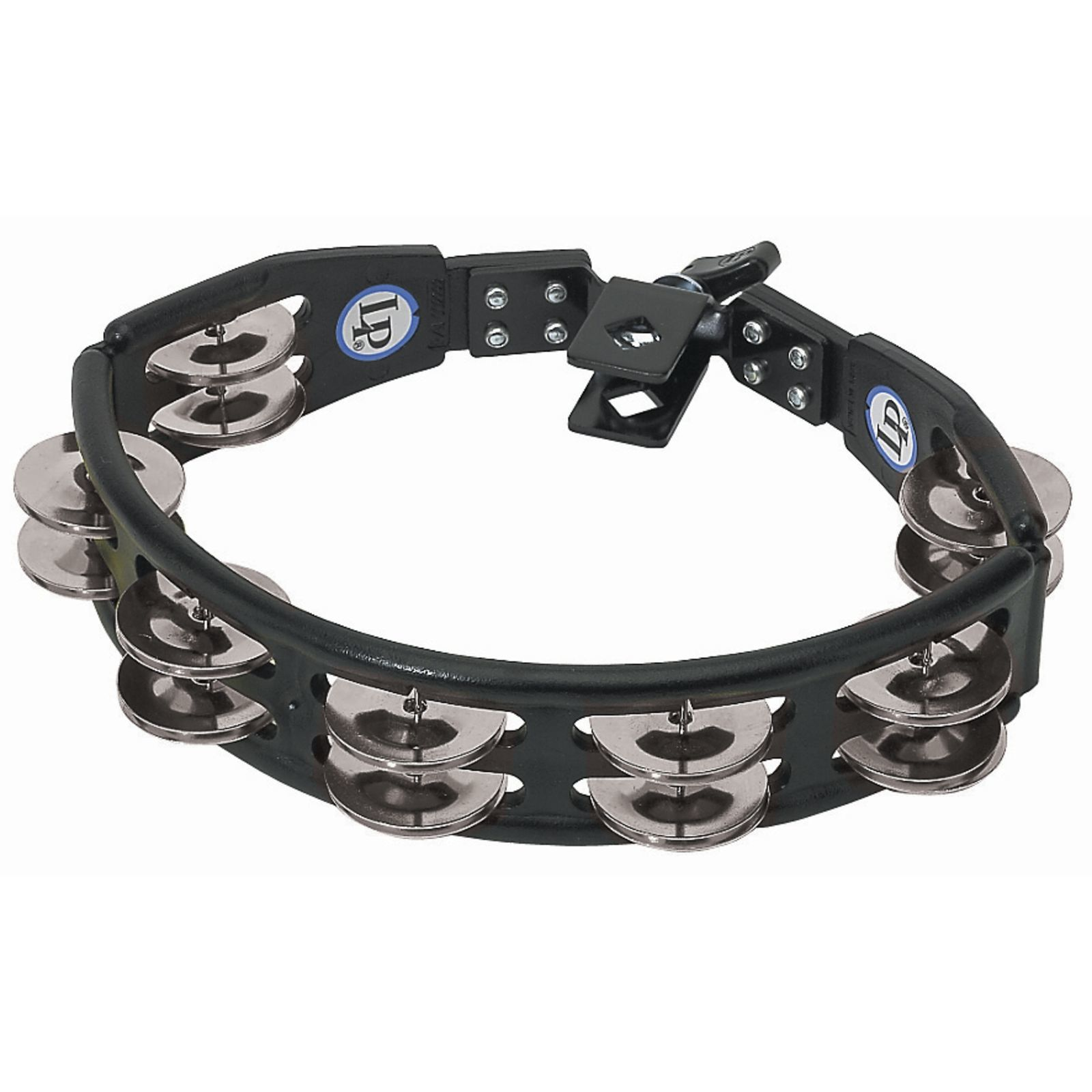 Latin Percussion Cyclops Set Tambourine LP160, black, steel jingles Produktbillede