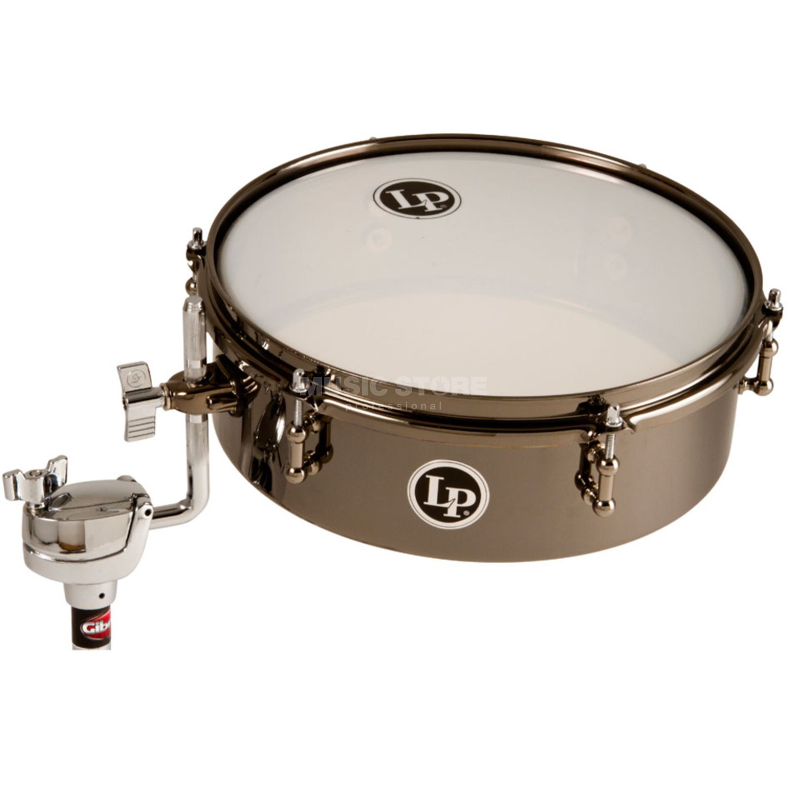 "Latin Percussion DrumSet Timbale LP812-BN, 12""x4"", Black Nickel Produktbillede"