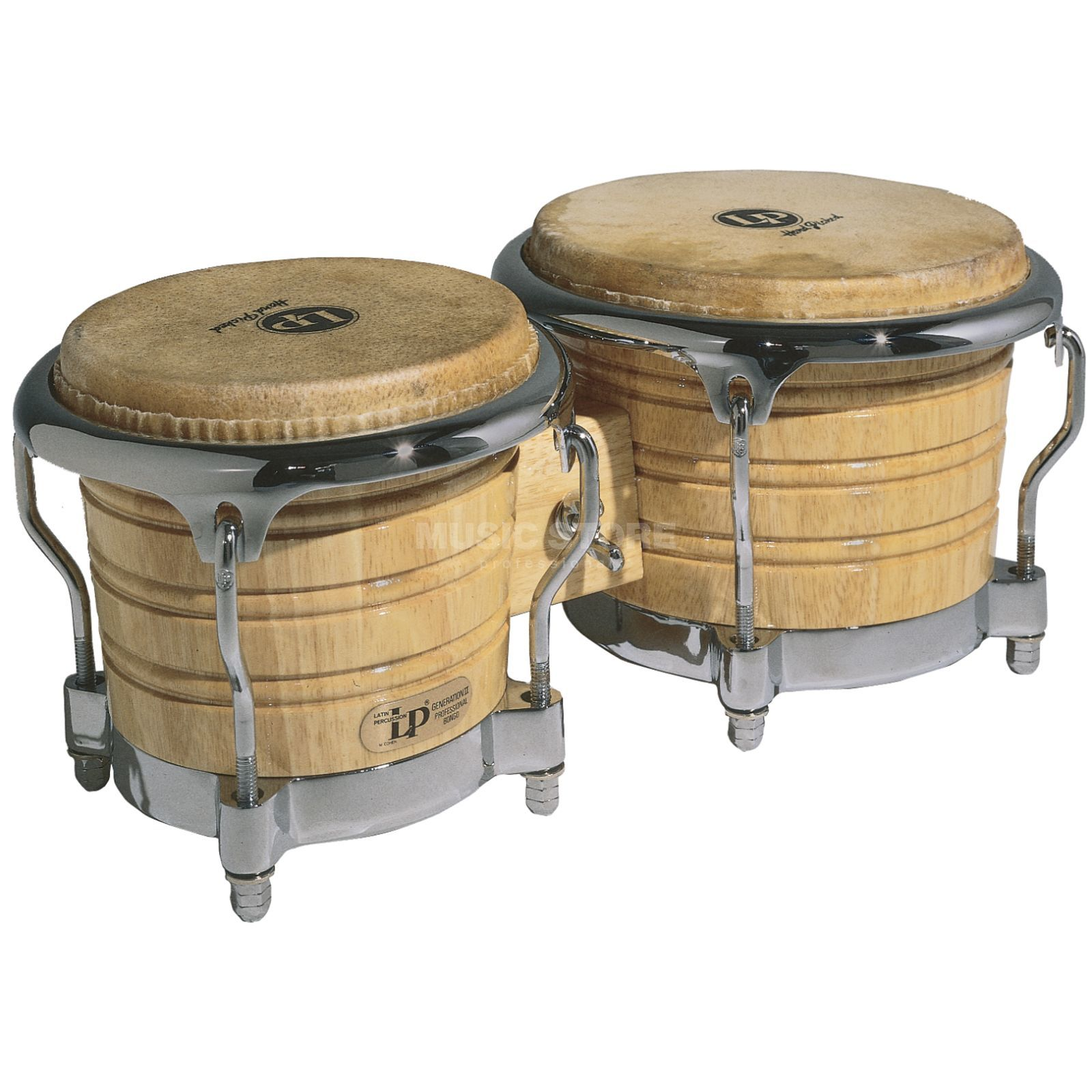 "Latin Percussion Generation II Bongos LP201AX-2 7""+ 8 5/8"", Natural Produktbillede"