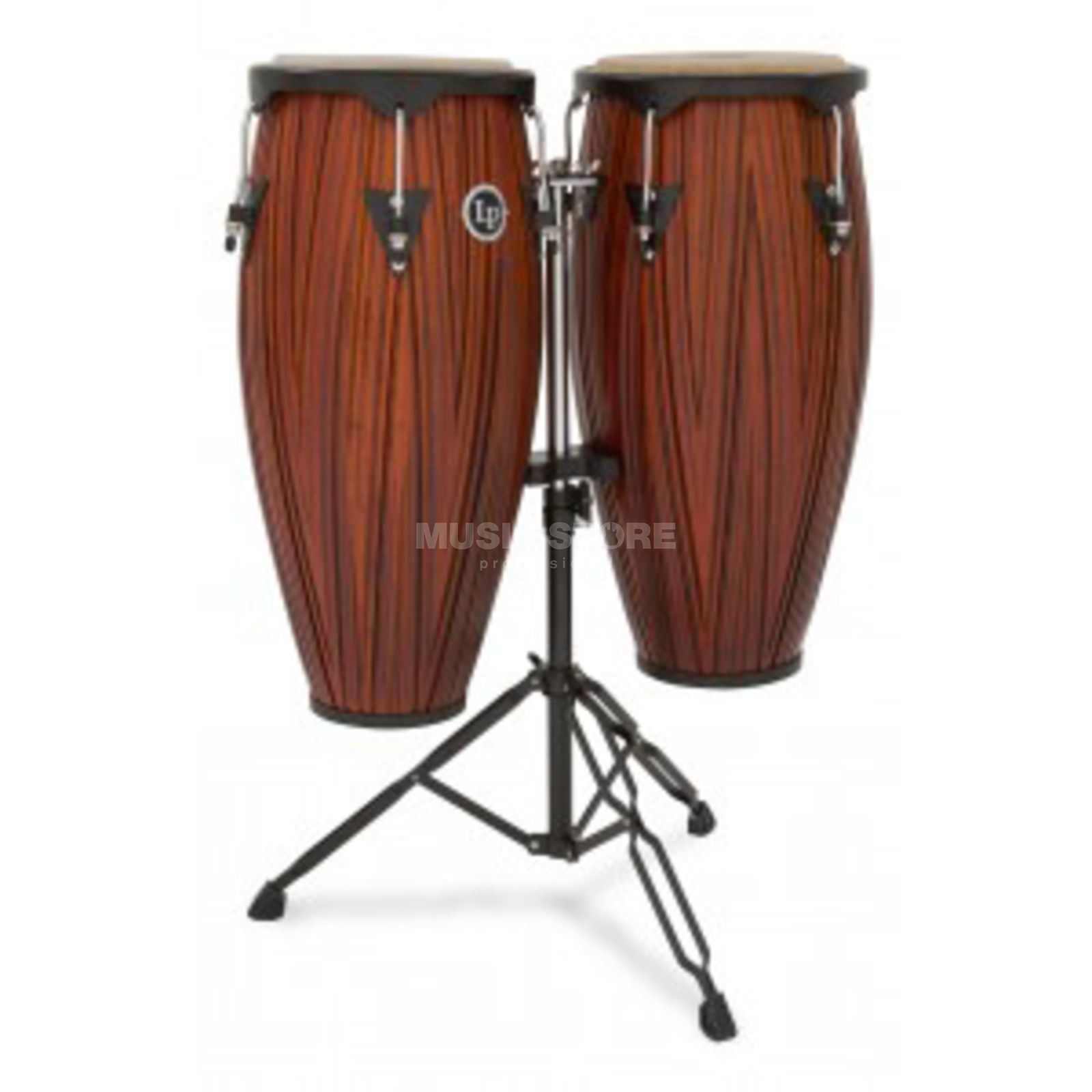 "Latin Percussion LP646NY-CMW, Conga Set 10""+11"" Carved Mango Wood Produktbillede"