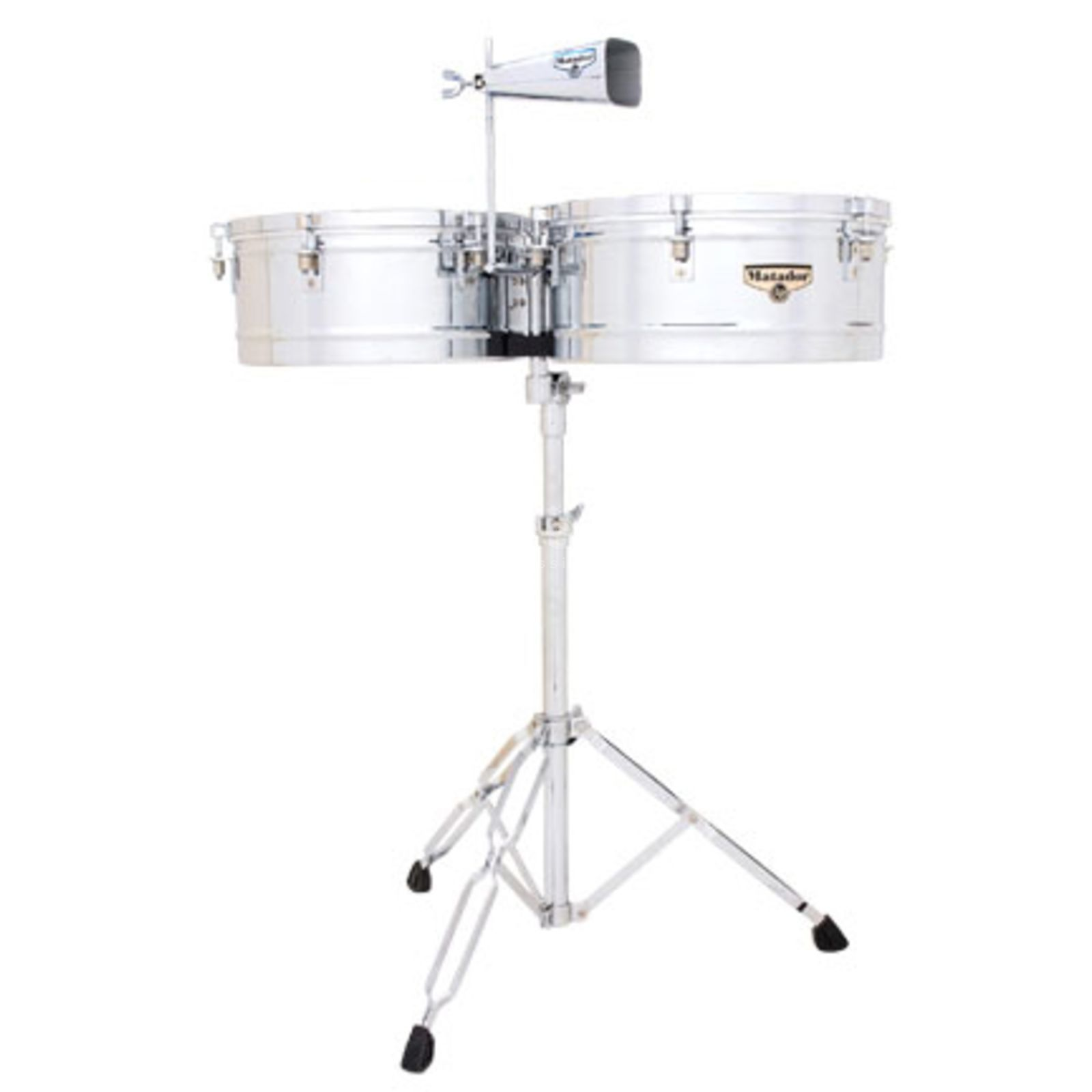 "Latin Percussion Matador Timbales M257, Chrome, 14"" & 15"" Product Image"