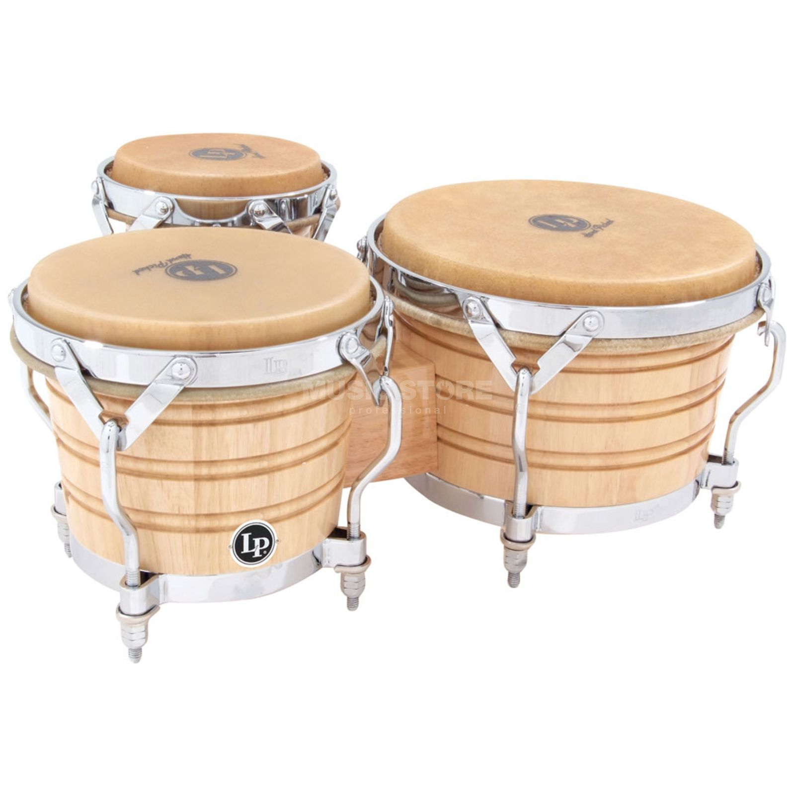 Latin Percussion Triple Bongos LP202-AW, Generation III, Wood Produktbillede