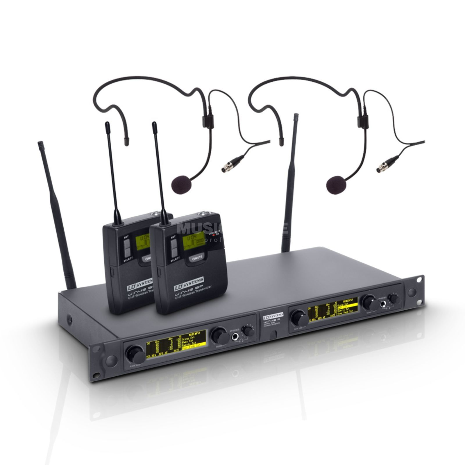 LD-Systems WIN 42 BPH 2 B5 m. 2 Headsets 516-558 MHz Produktbild
