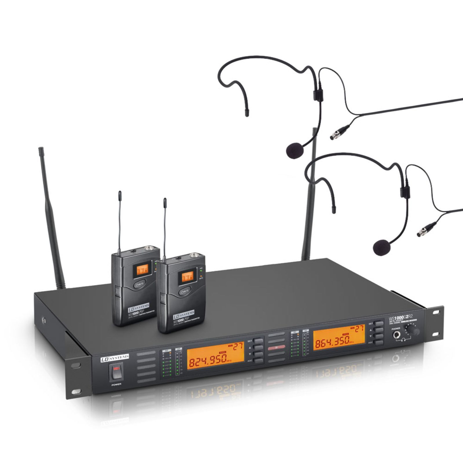 LD-Systems WS 1000 G2 BPH2 Wireless Twin Set Produktbillede