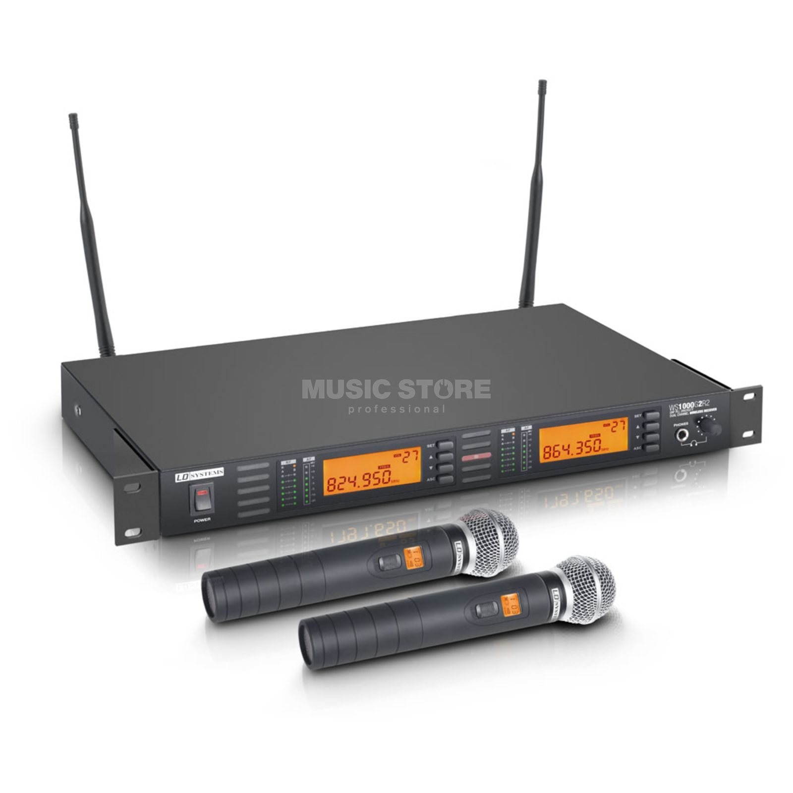 LD-Systems WS 1000 G2 HHD2 Wireless Vocal Twin Set Produktbild